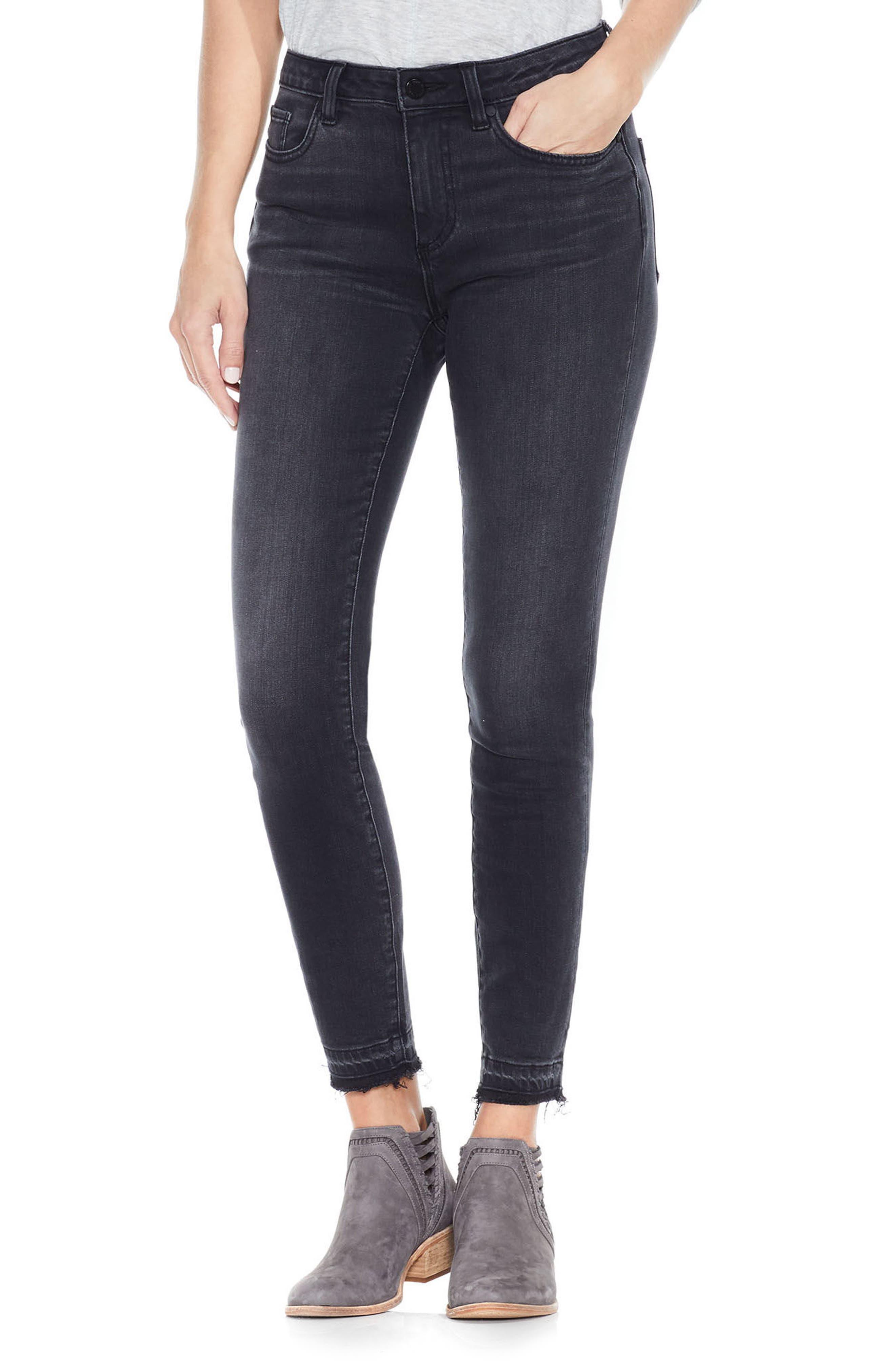 Release Hem Ankle Jeans,                         Main,                         color, Coal Wash