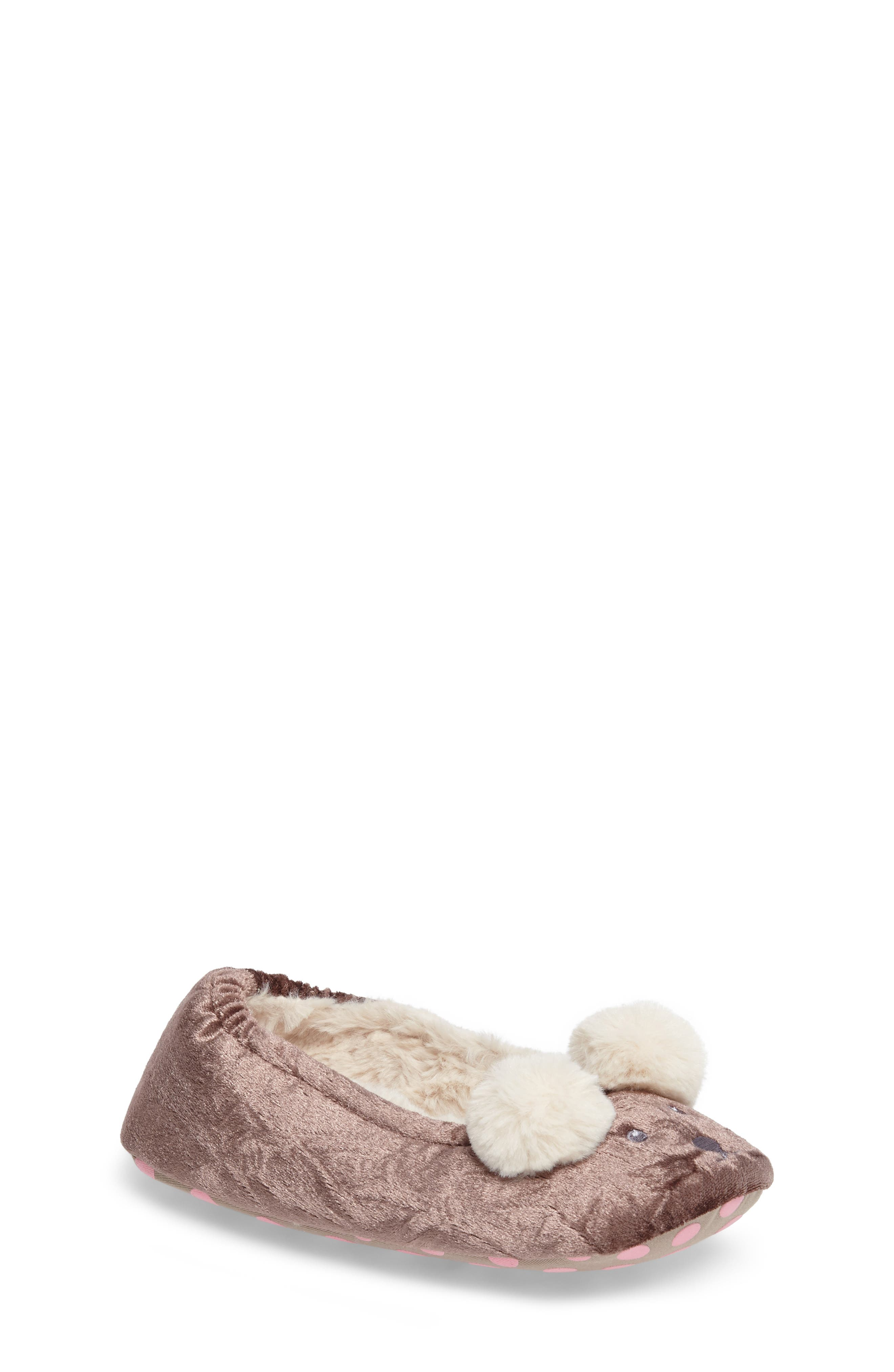 Alternate Image 1 Selected - Mini Boden Bear Slipper (Toddler, Little Kid & Big Kid)