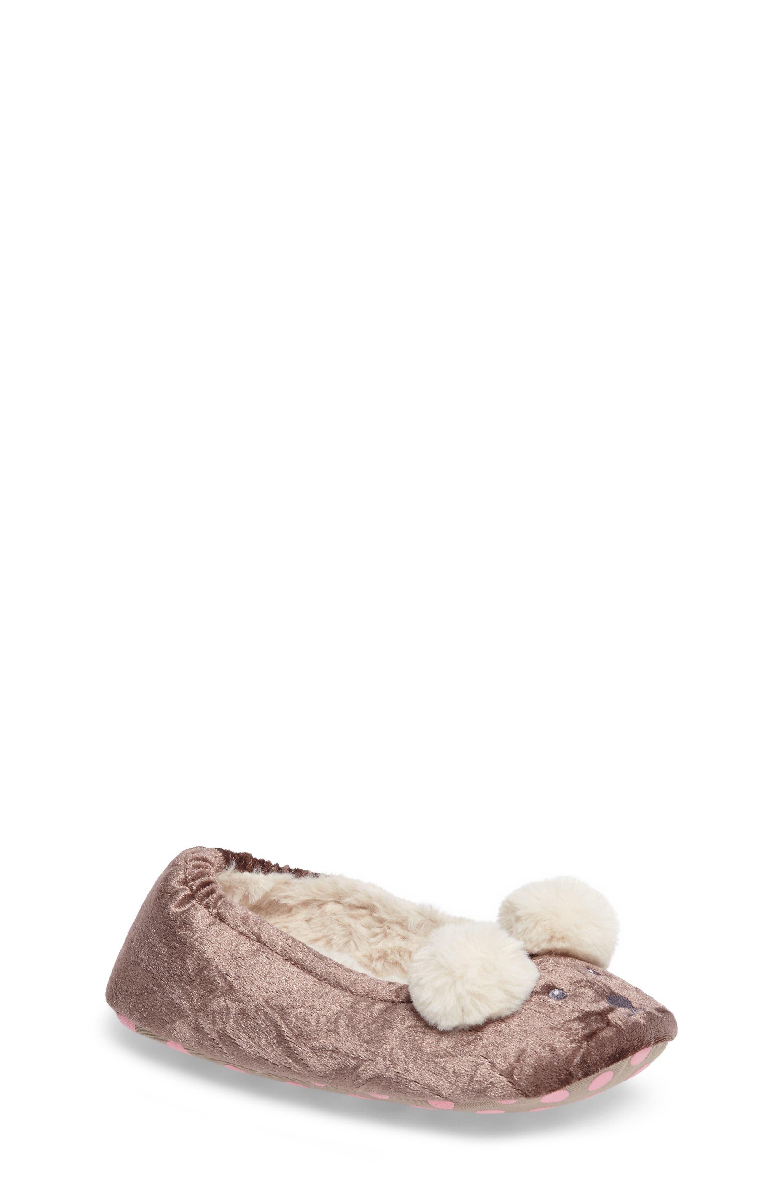 Main Image - Mini Boden Bear Slipper (Toddler, Little Kid & Big Kid)