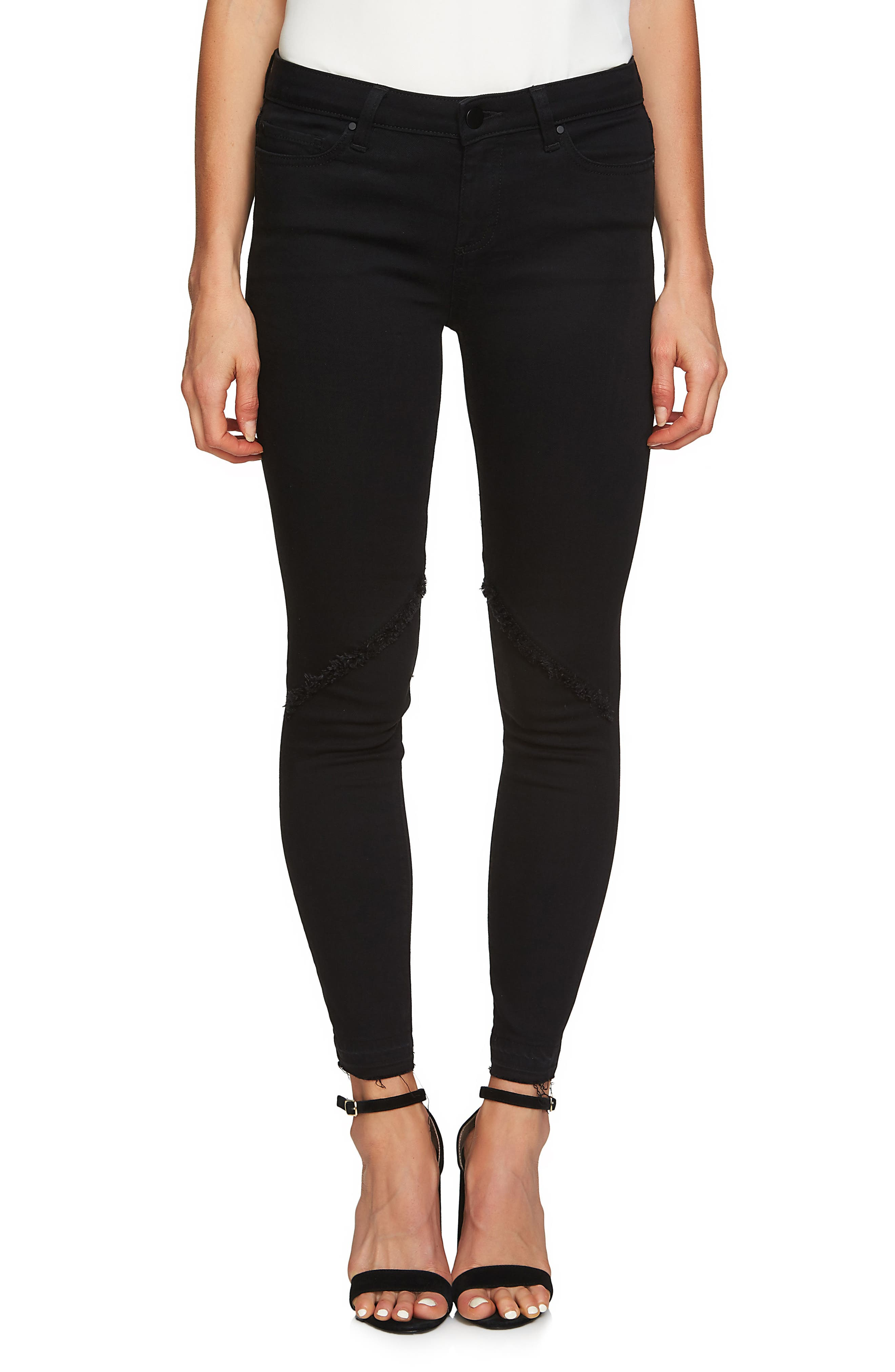 Main Image - 1.STATE Frayed Skinny Jeans (Super Wash)