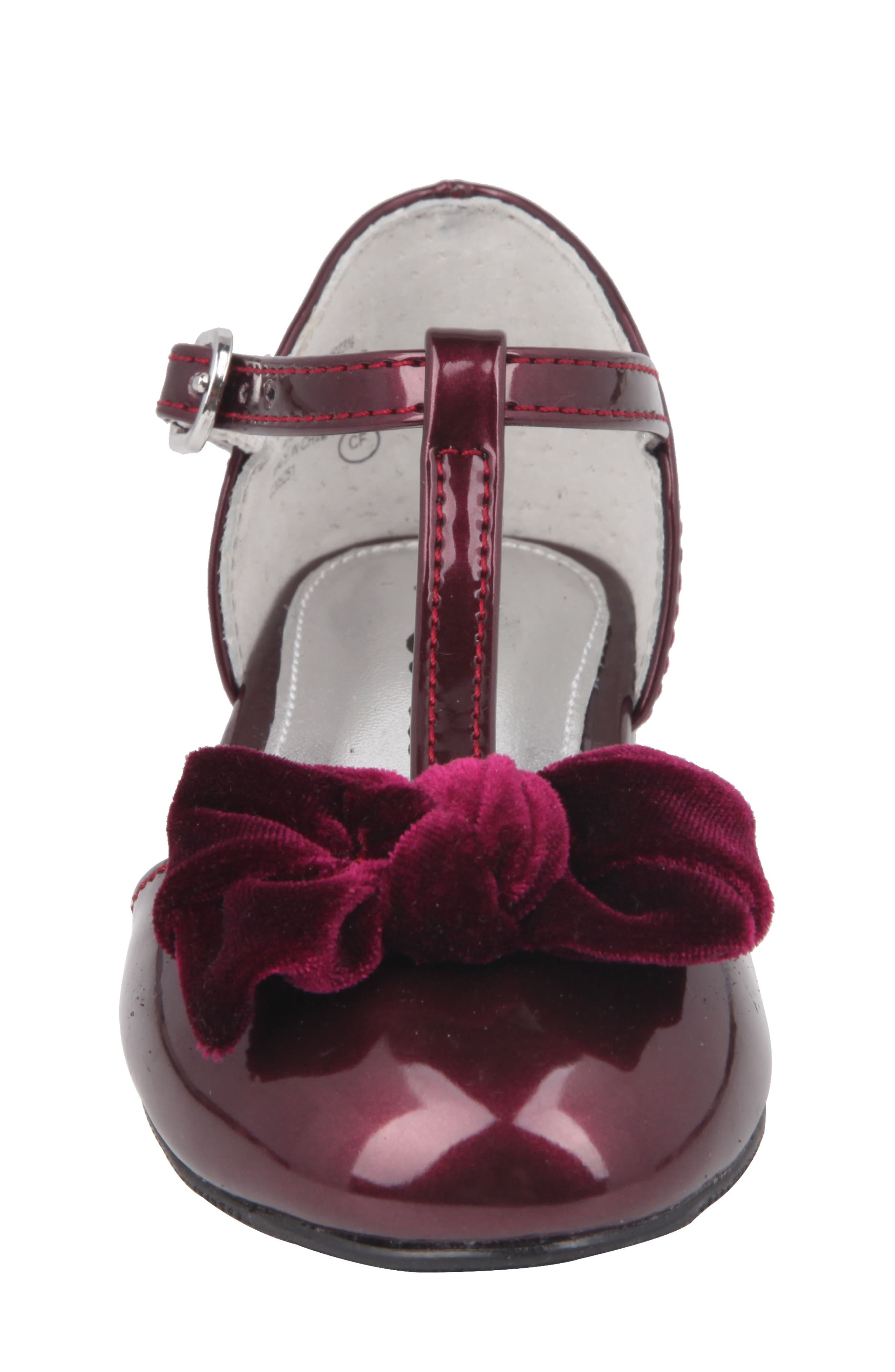 Alternate Image 4  - Nina Almira T-Strap Bow Flat (Walker, Toddler, Little Kid & Big Kid)