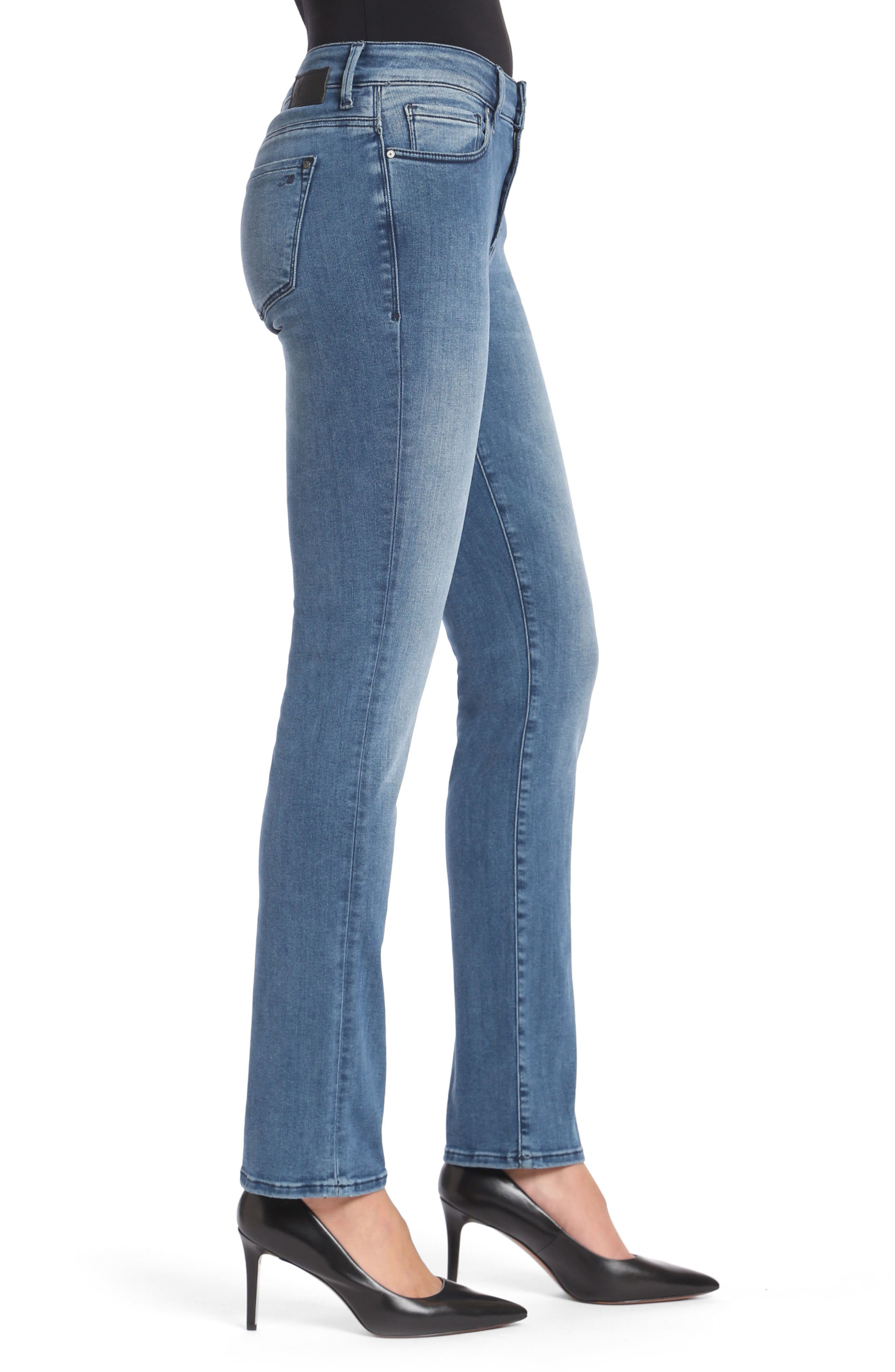 Kendra High Waist Straight Leg Jeans,                             Alternate thumbnail 3, color,                             Light Foggy Blue Tribeca
