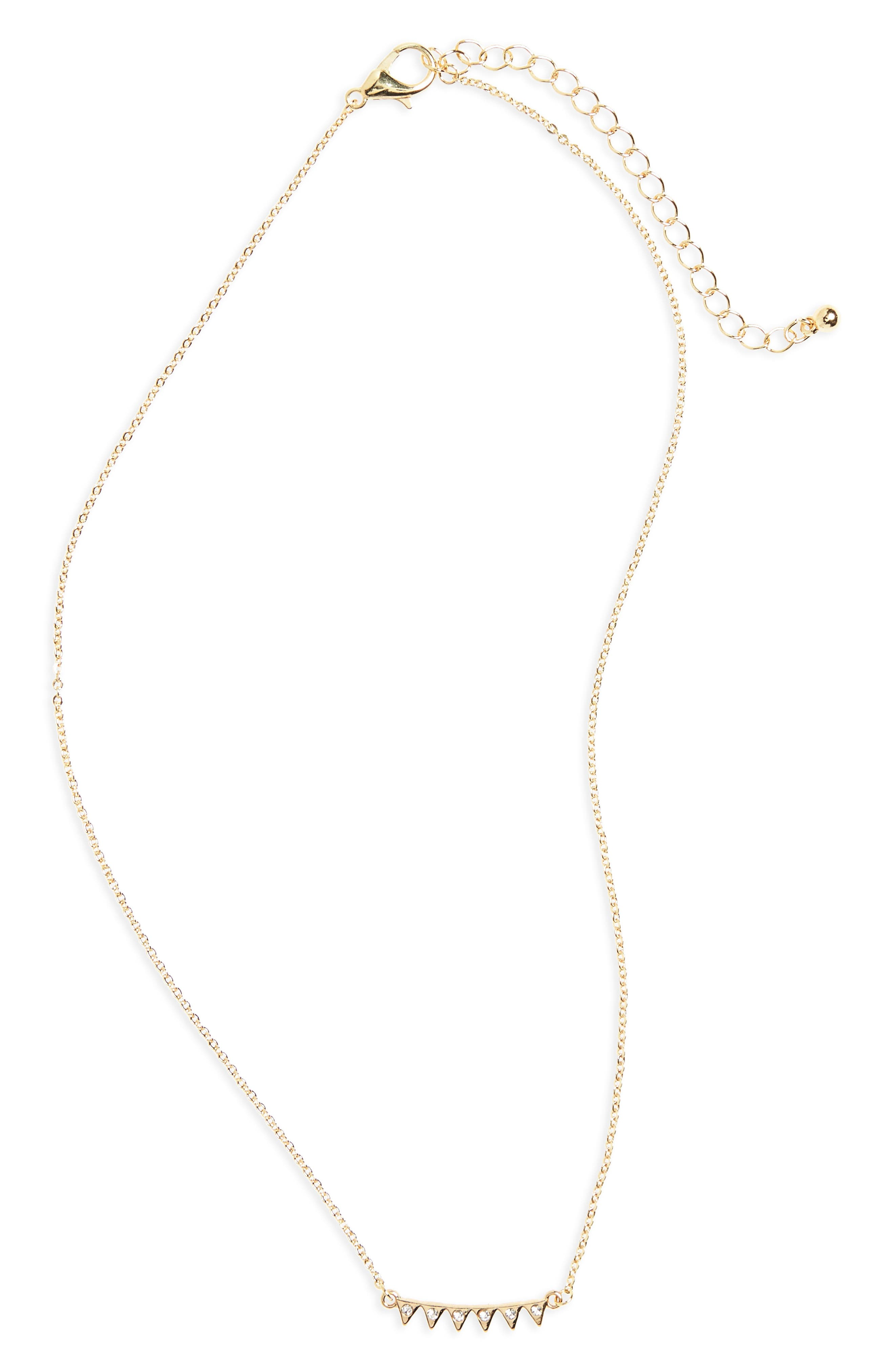 BP. Triangle Crystal Charm Necklace