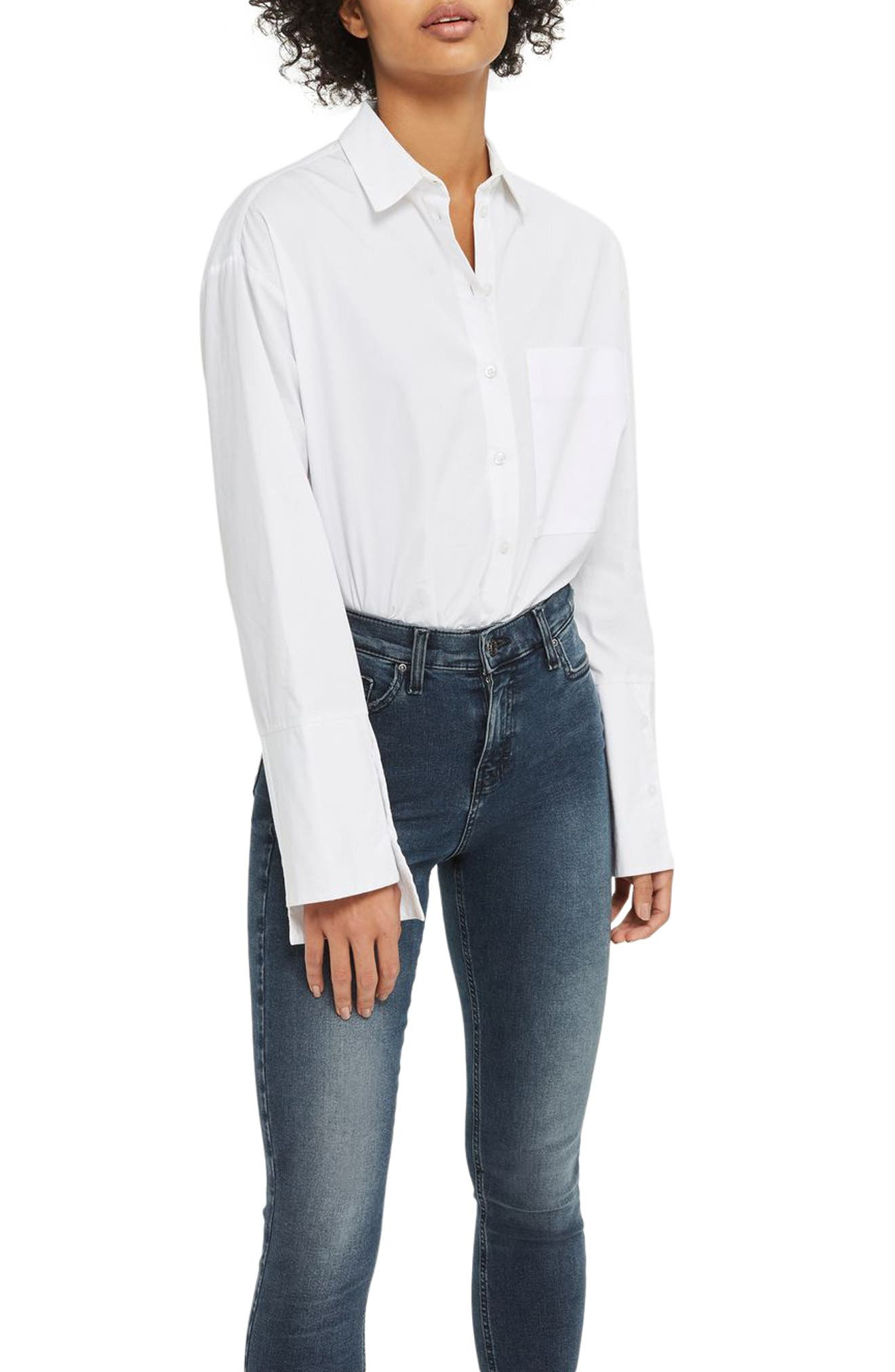 Main Image - Topshop Jamie High Waist Ankle Skinny Jeans