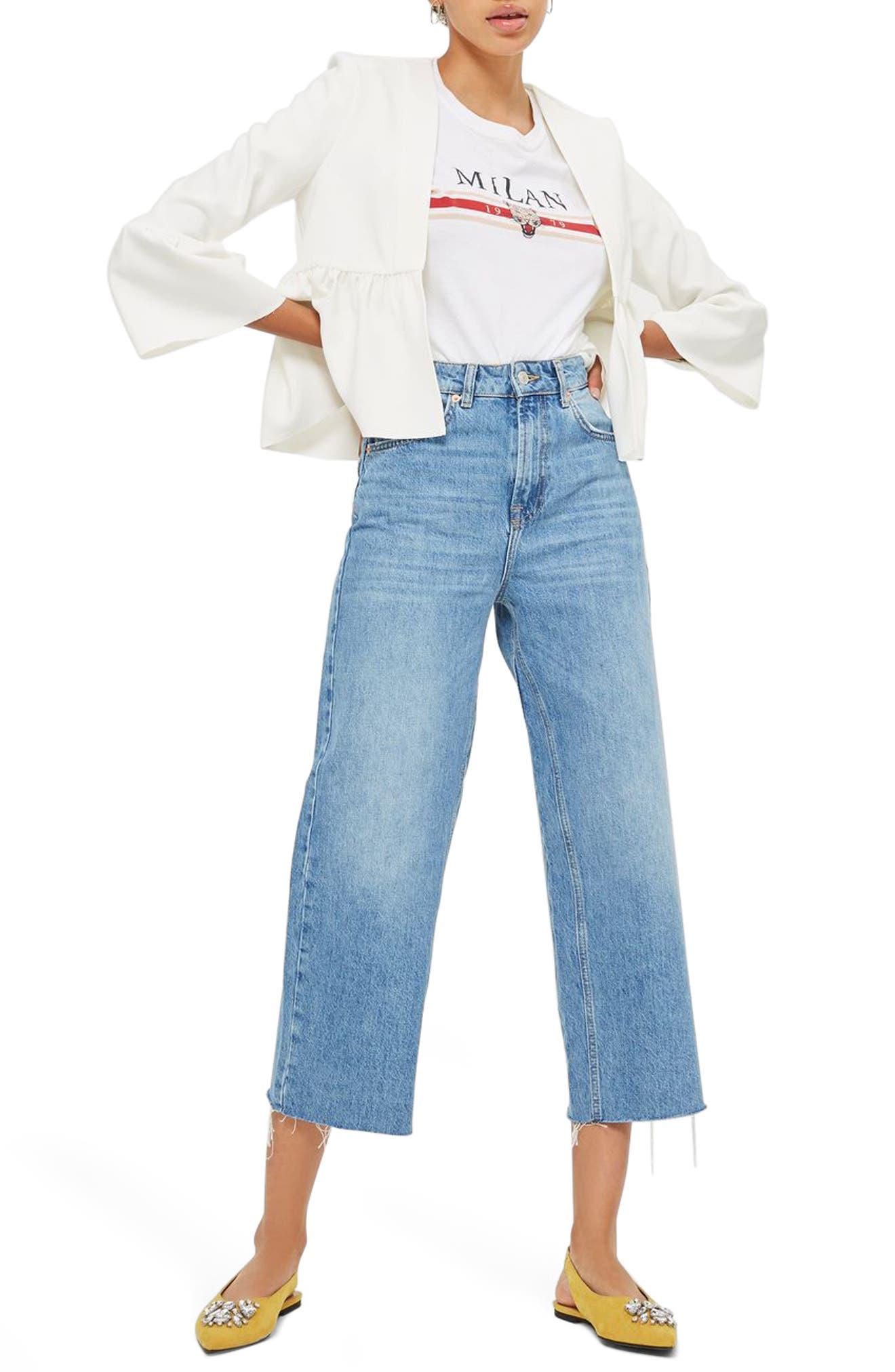 Topshop Ruffle Crop Jacket (Petite)