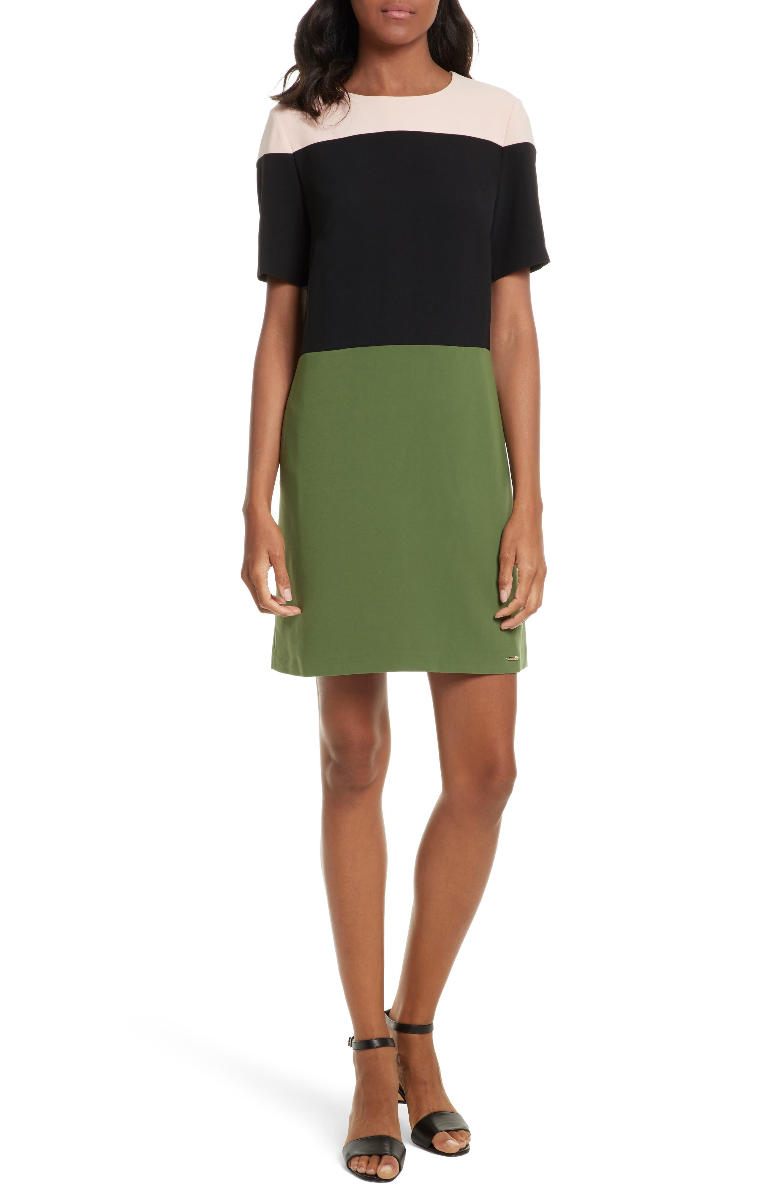 TED BAKER LONDON Lantan Colorblock Tunic Dress