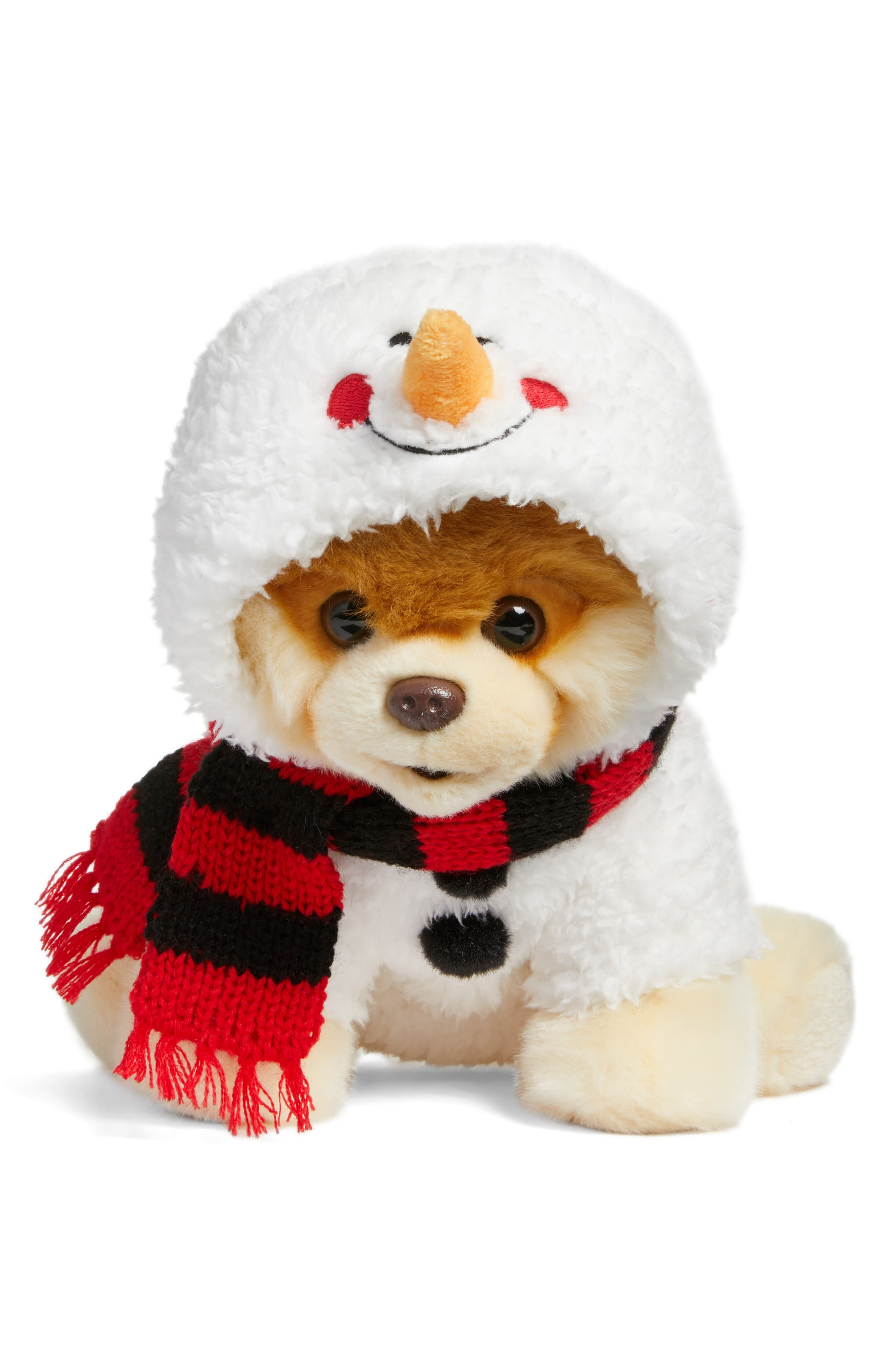 Boo - Snowman Hoodie Stuffed Animal,                             Main thumbnail 1, color,                             White