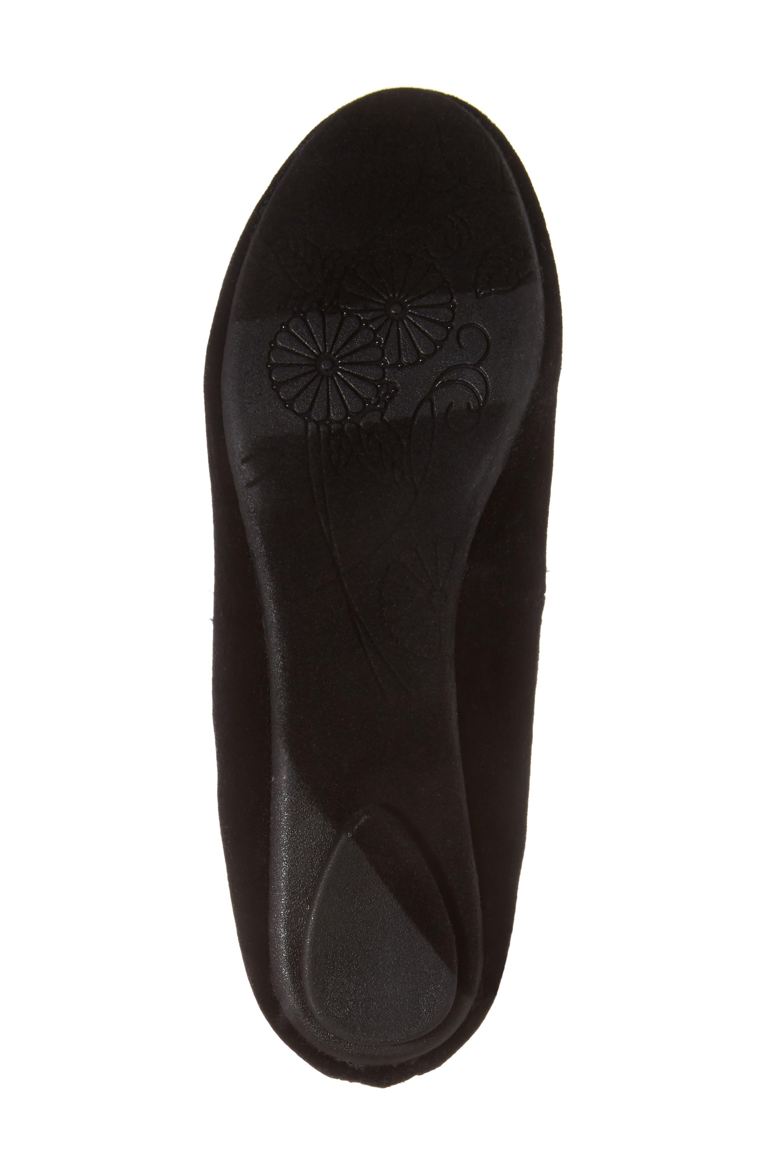 Zilerp Embellished Ankle Strap Flat,                             Alternate thumbnail 6, color,                             Black Velvet