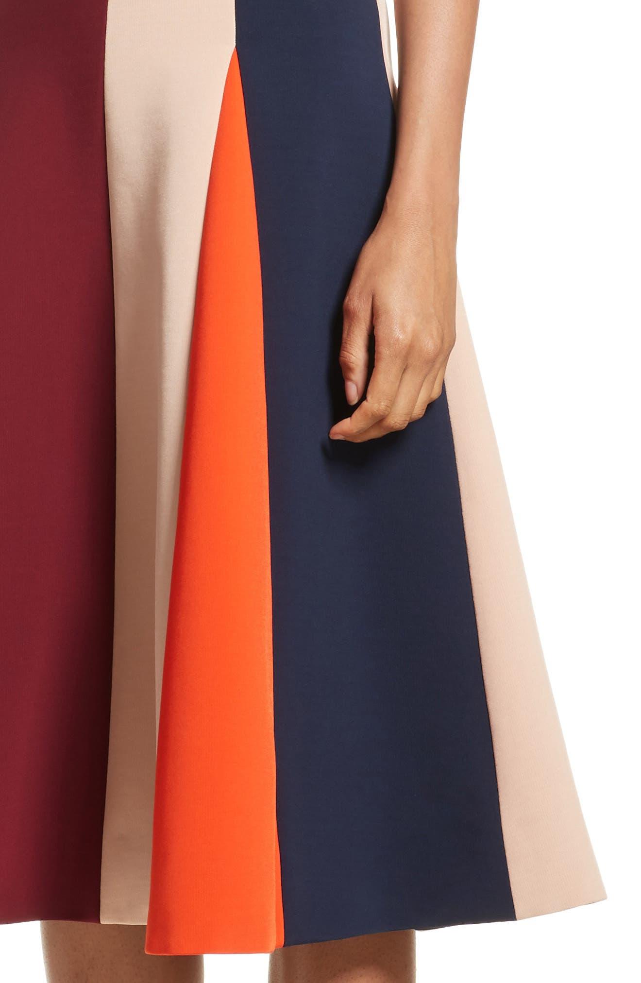 Stripe Flare Dress,                             Alternate thumbnail 5, color,                             Multi