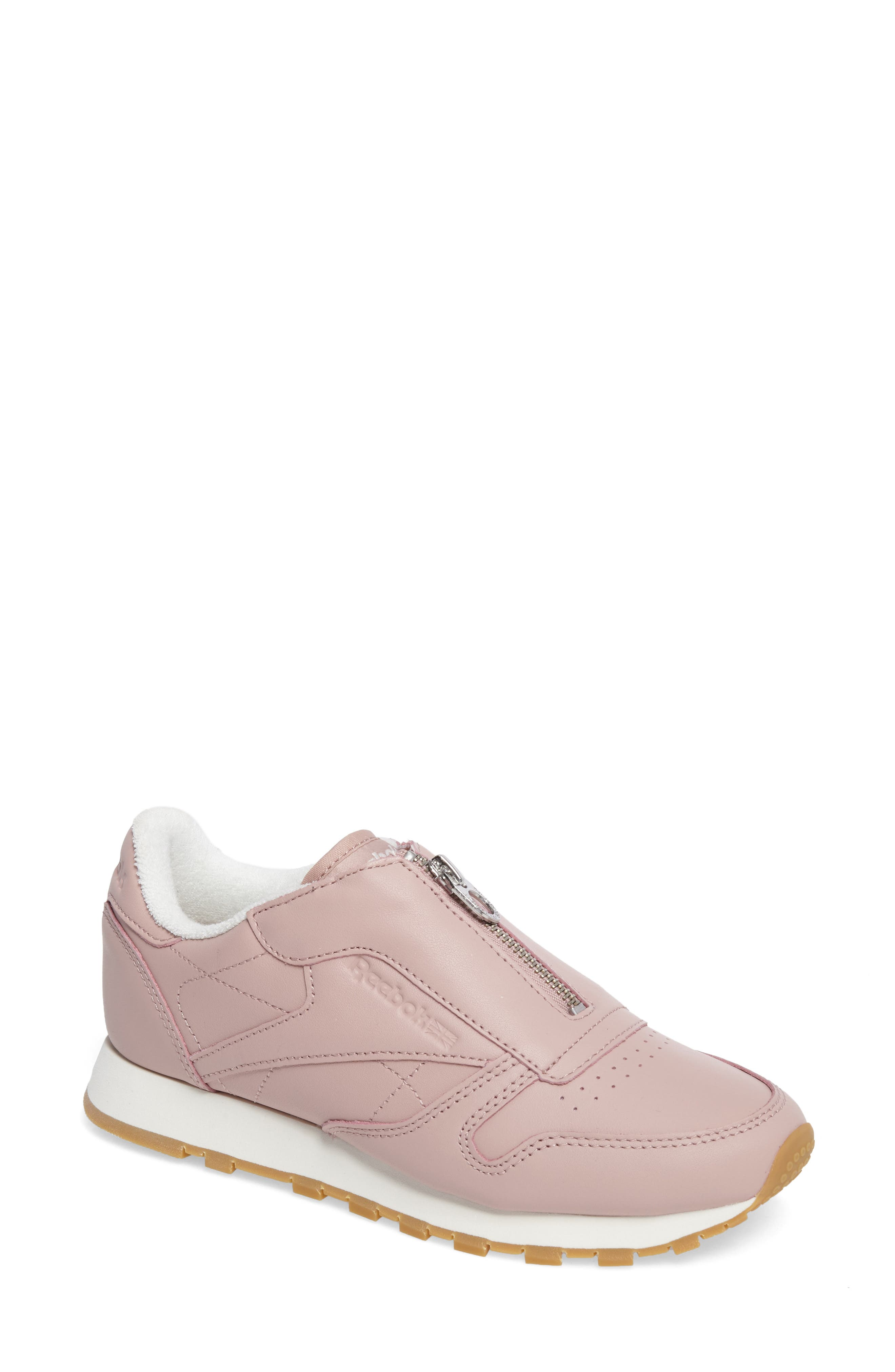 Classic Zip Sneaker,                             Main thumbnail 1, color,                             Shell Pink/ Chalk/ Silver