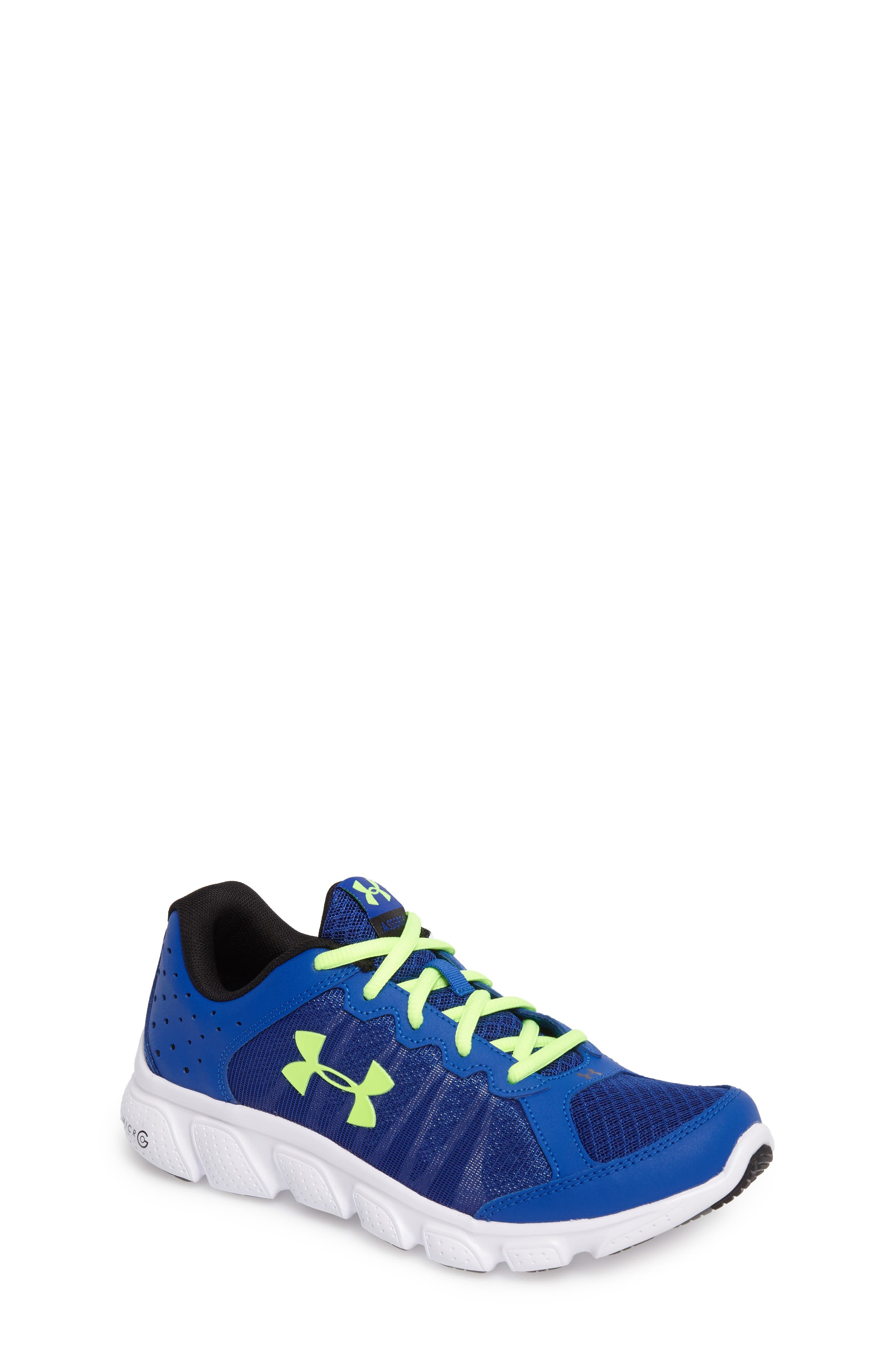 'Micro G<sup>®</sup> Assert VI' Running Shoe,                             Main thumbnail 1, color,                             Royal/ White/ Quirky Lime