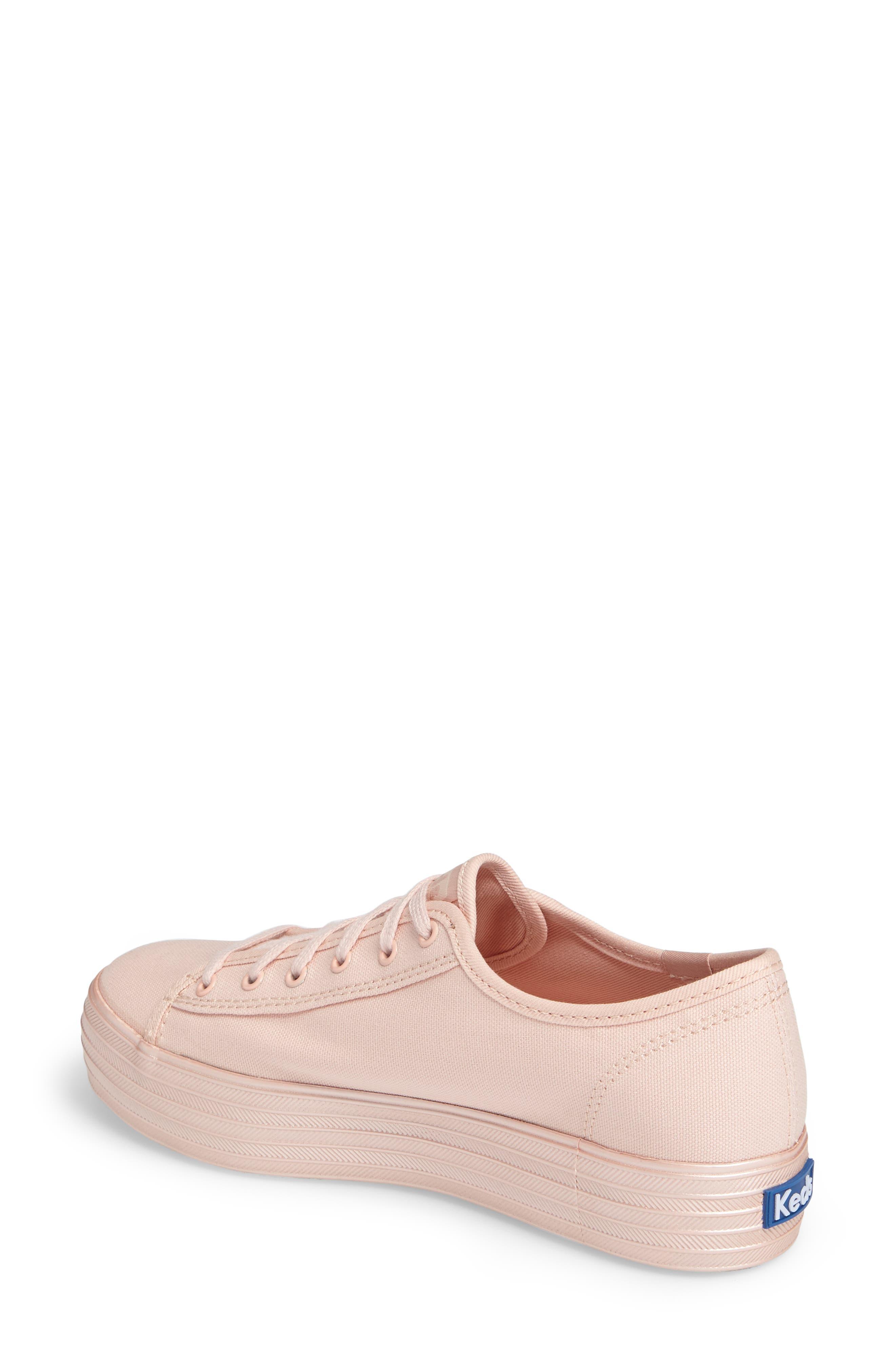 Alternate Image 2  - Keds® Triple Shimmer Platform Sneaker (Women)