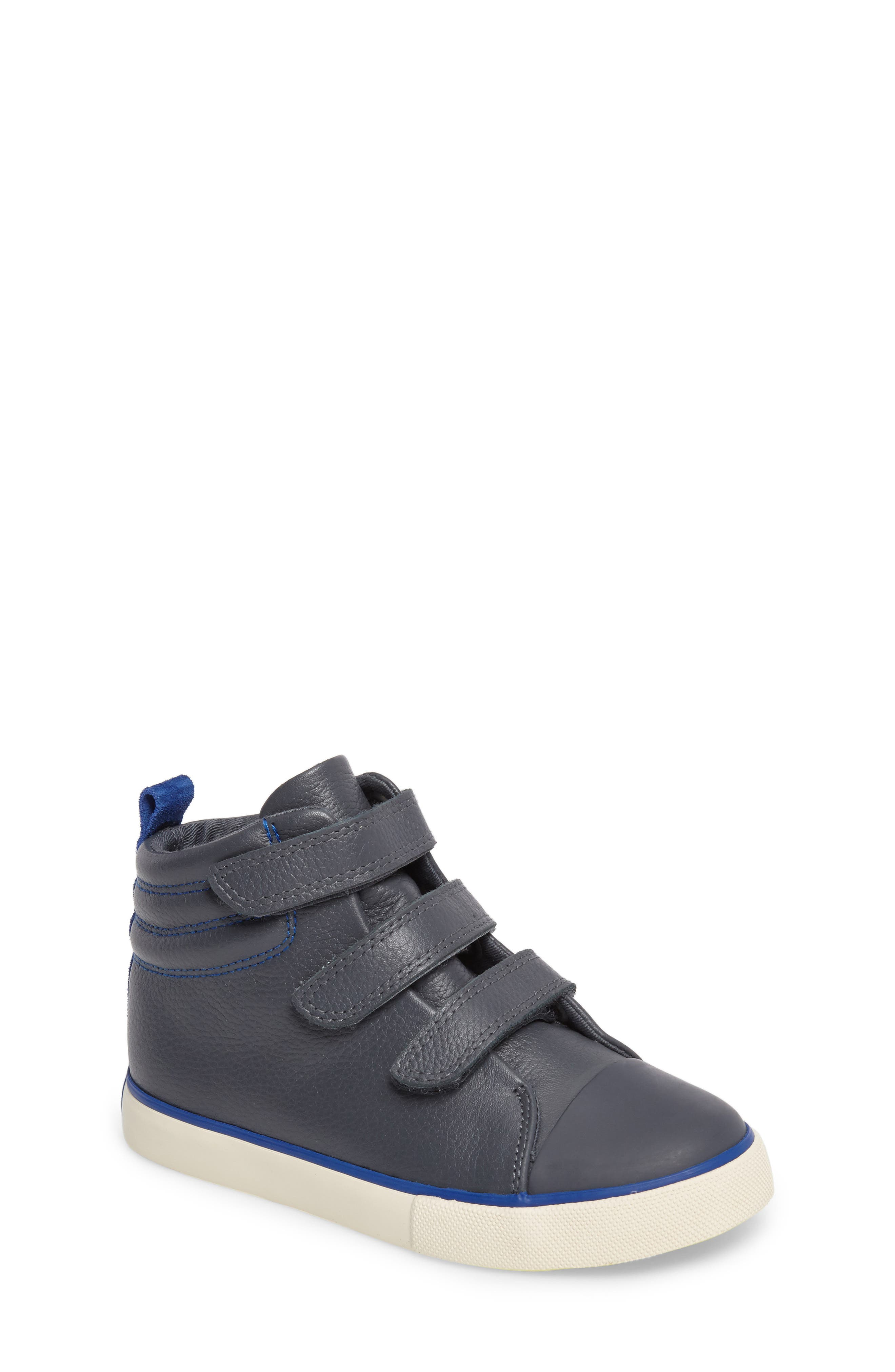 Main Image - Mini Boden High Top Sneaker (Toddler, Little Kid & Big Kid)
