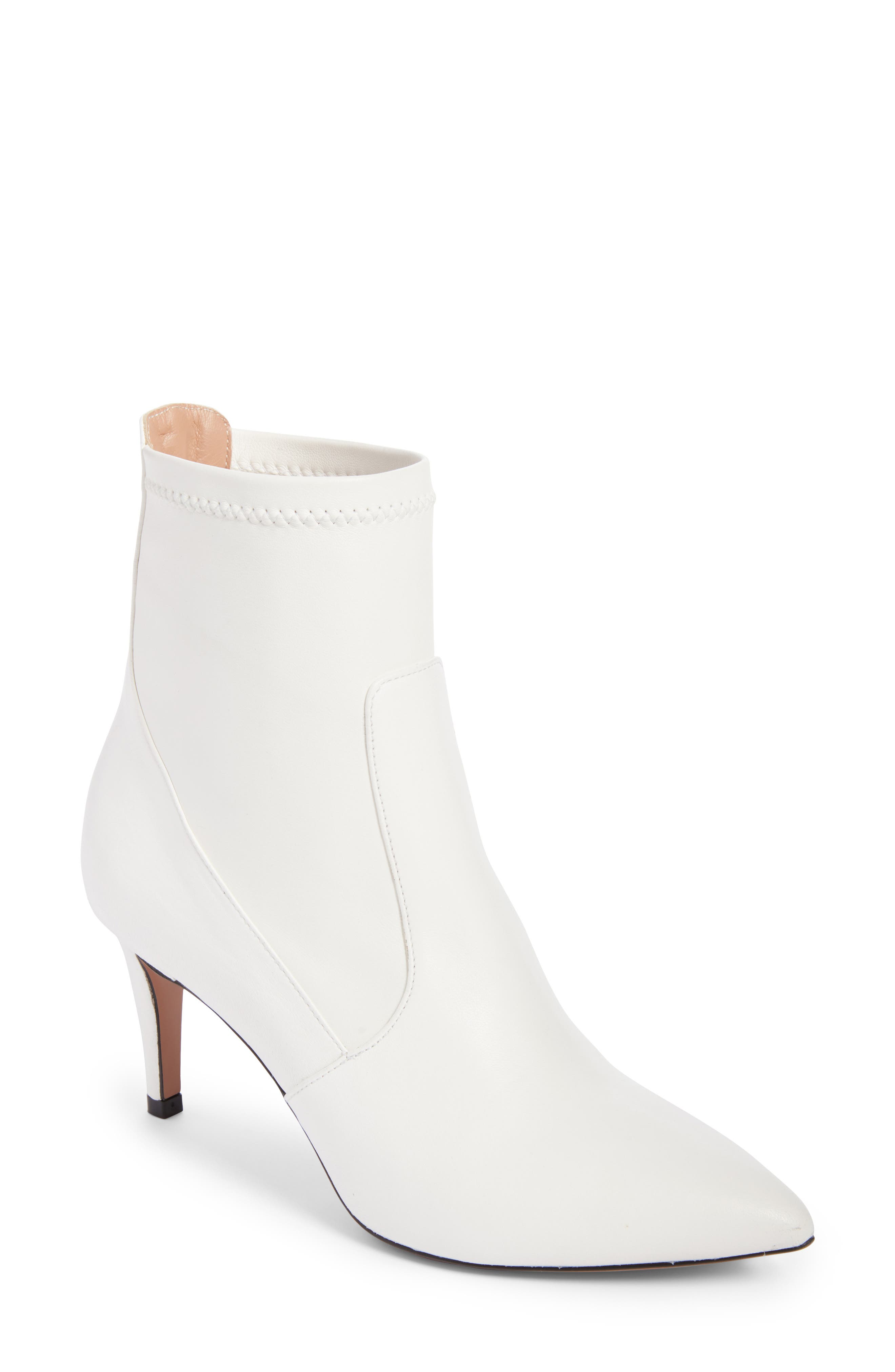 Abra Bootie,                         Main,                         color, White Leather