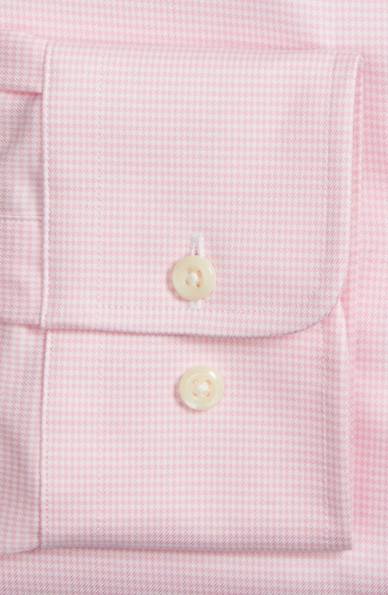 Alternate Image 3  - David Donahue Trim Fit Houndstooth Dress Shirt