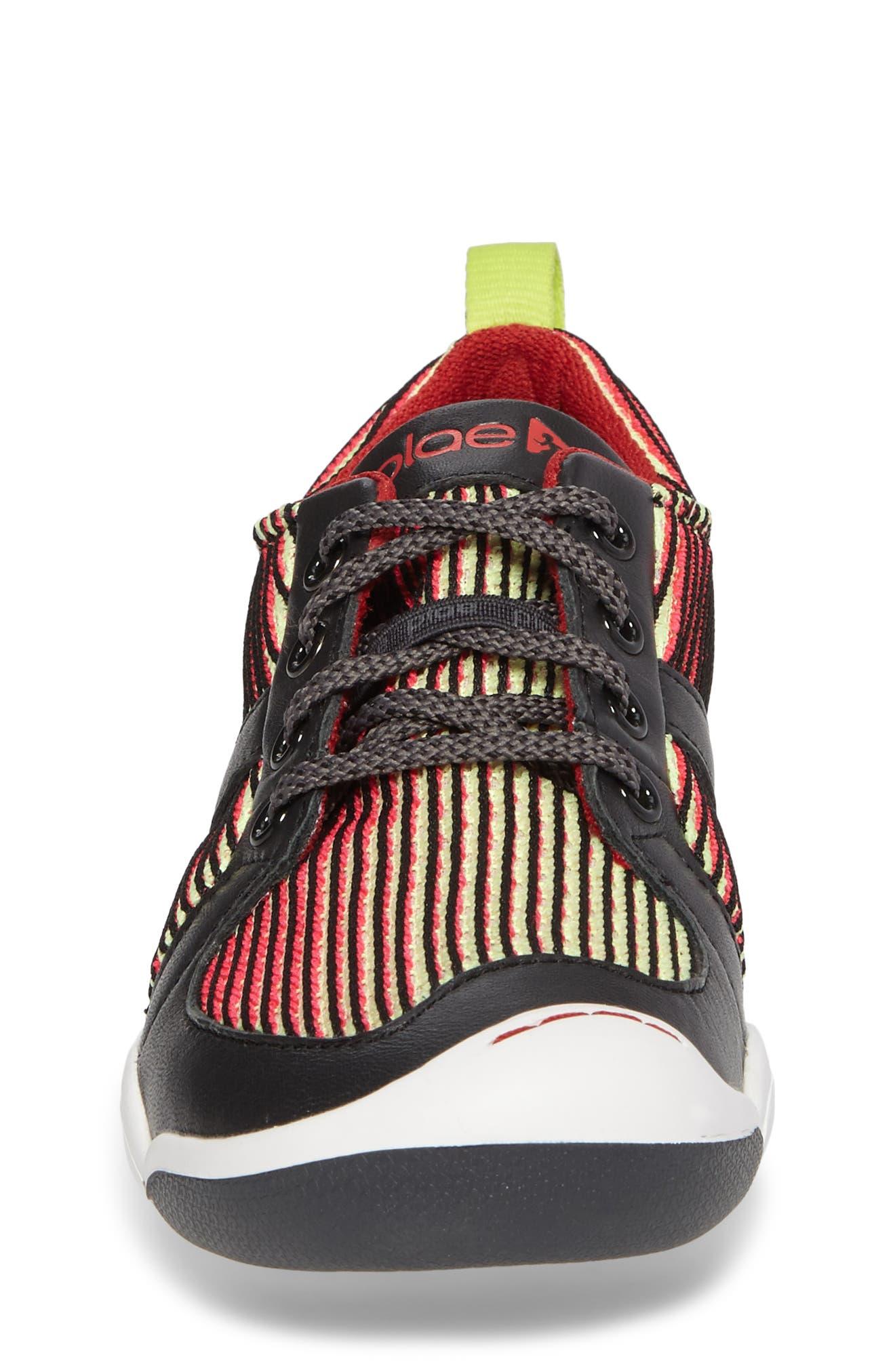 Miles Performance Mesh Sneaker,                             Alternate thumbnail 4, color,                             Electric Lime