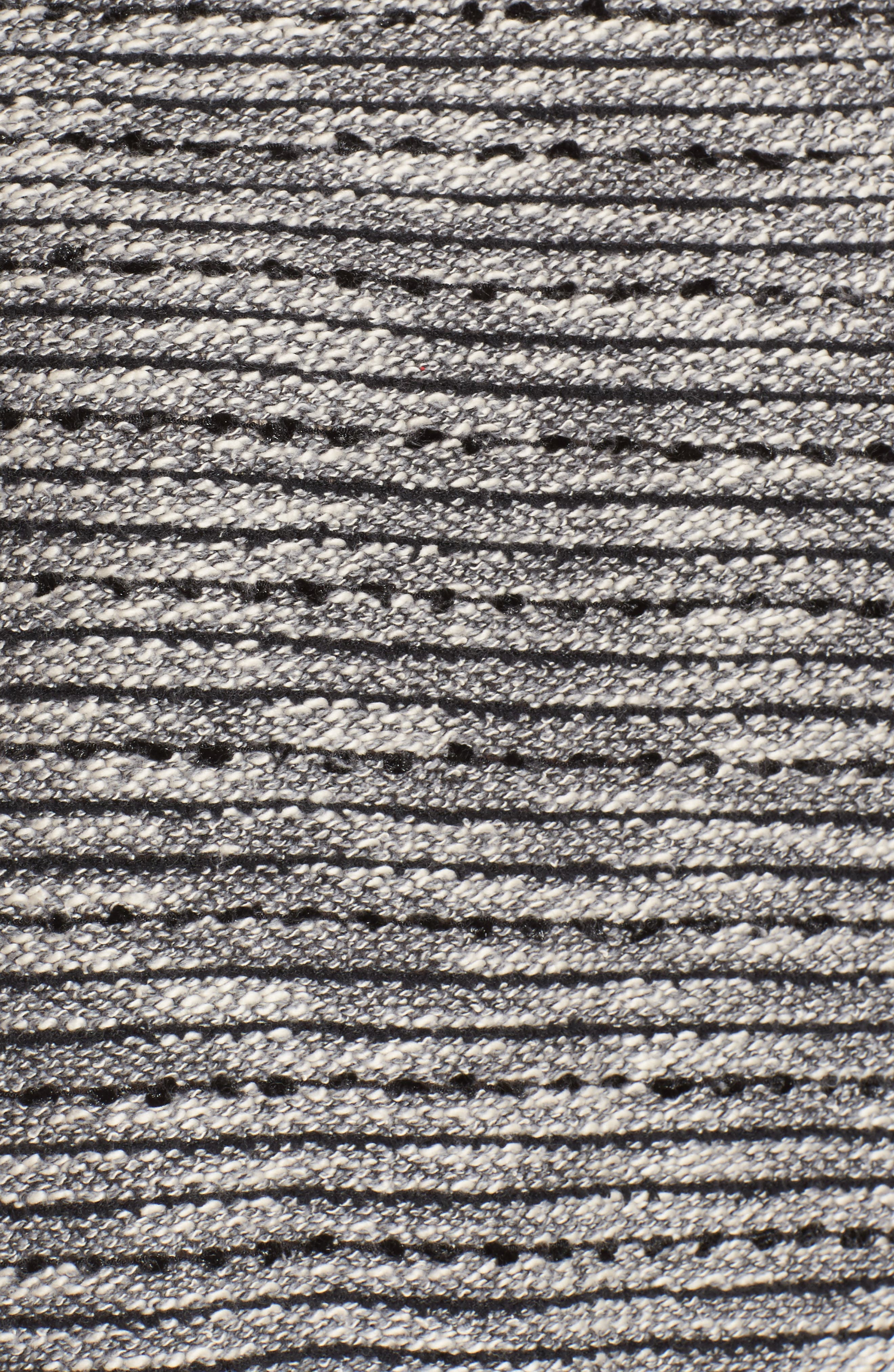 Zip Pocket Slubby Knit Top,                             Alternate thumbnail 5, color,                             Rich Black
