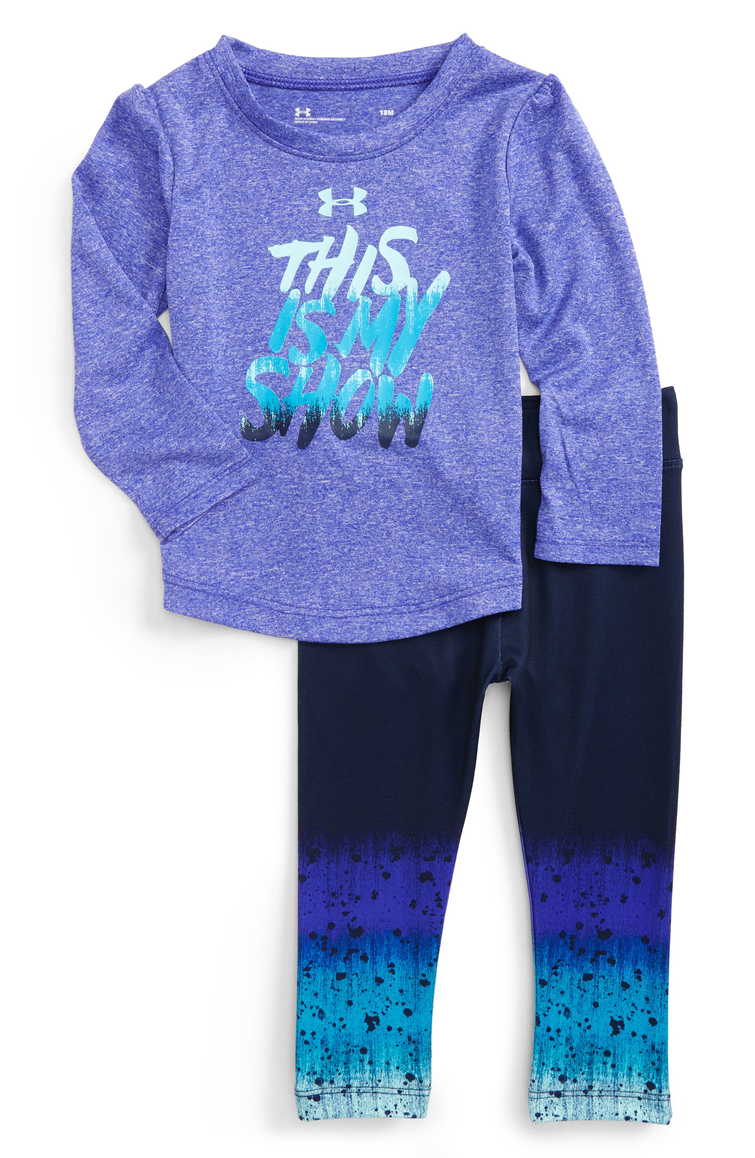 Alternate Image 1 Selected - Under Armour This Is My Show Graphic Tee & Leggings Set (Baby Girls)