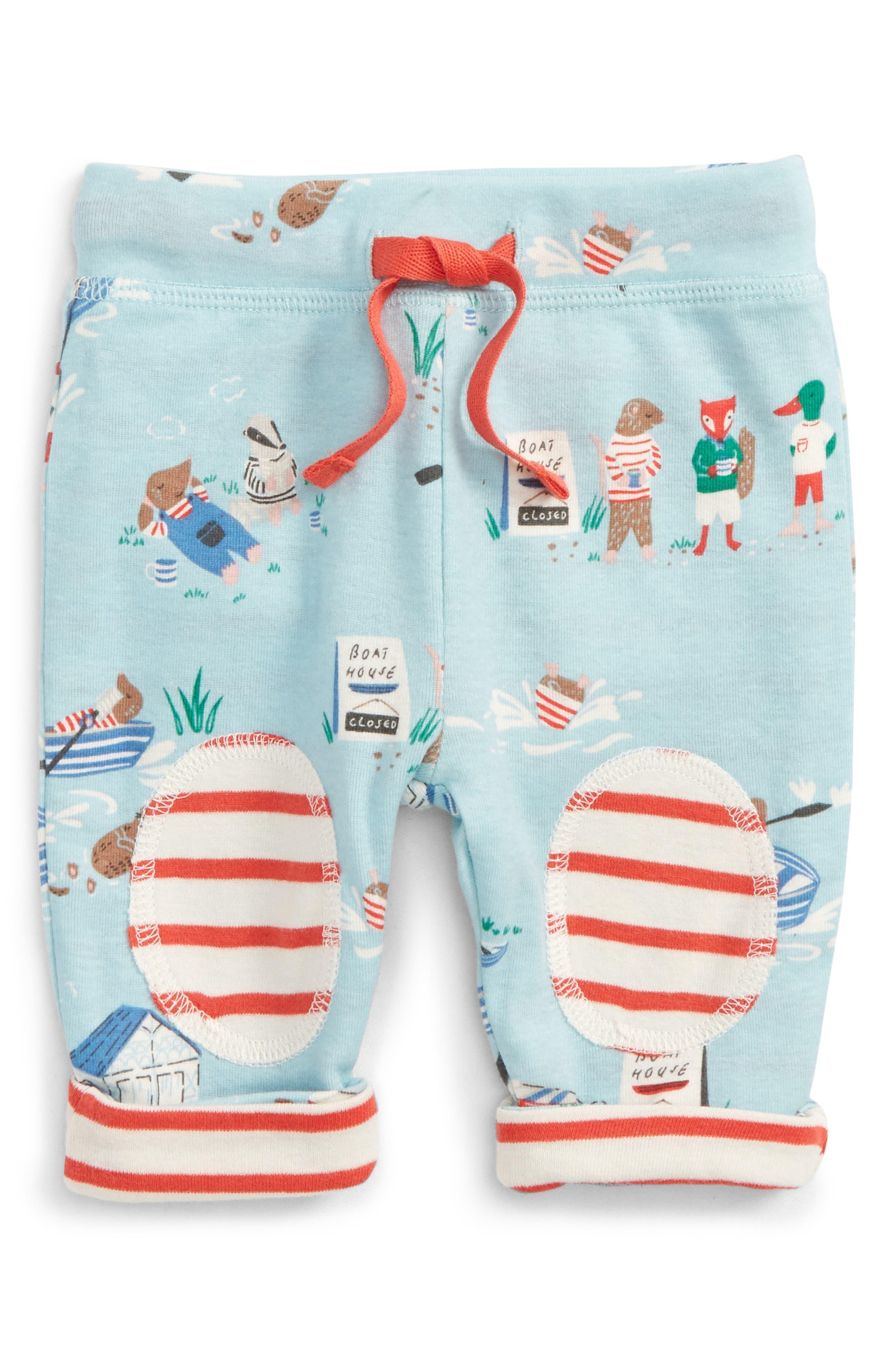 Main Image - Mini Boden Reversible Knee Patch Leggings (Baby Boys & Toddler Boys)
