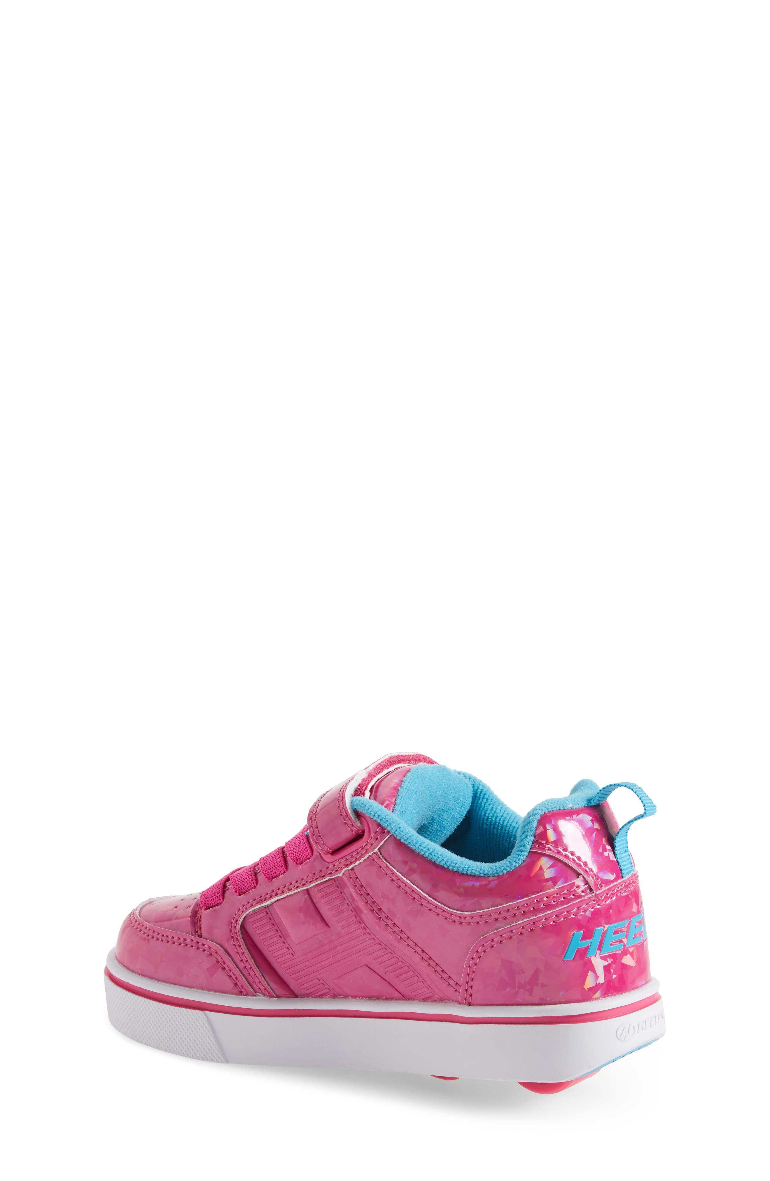 Bolt Plus X2 Light-Up Skate Sneaker,                             Alternate thumbnail 2, color,                             Hot Pink Hologram/ Neon Blue