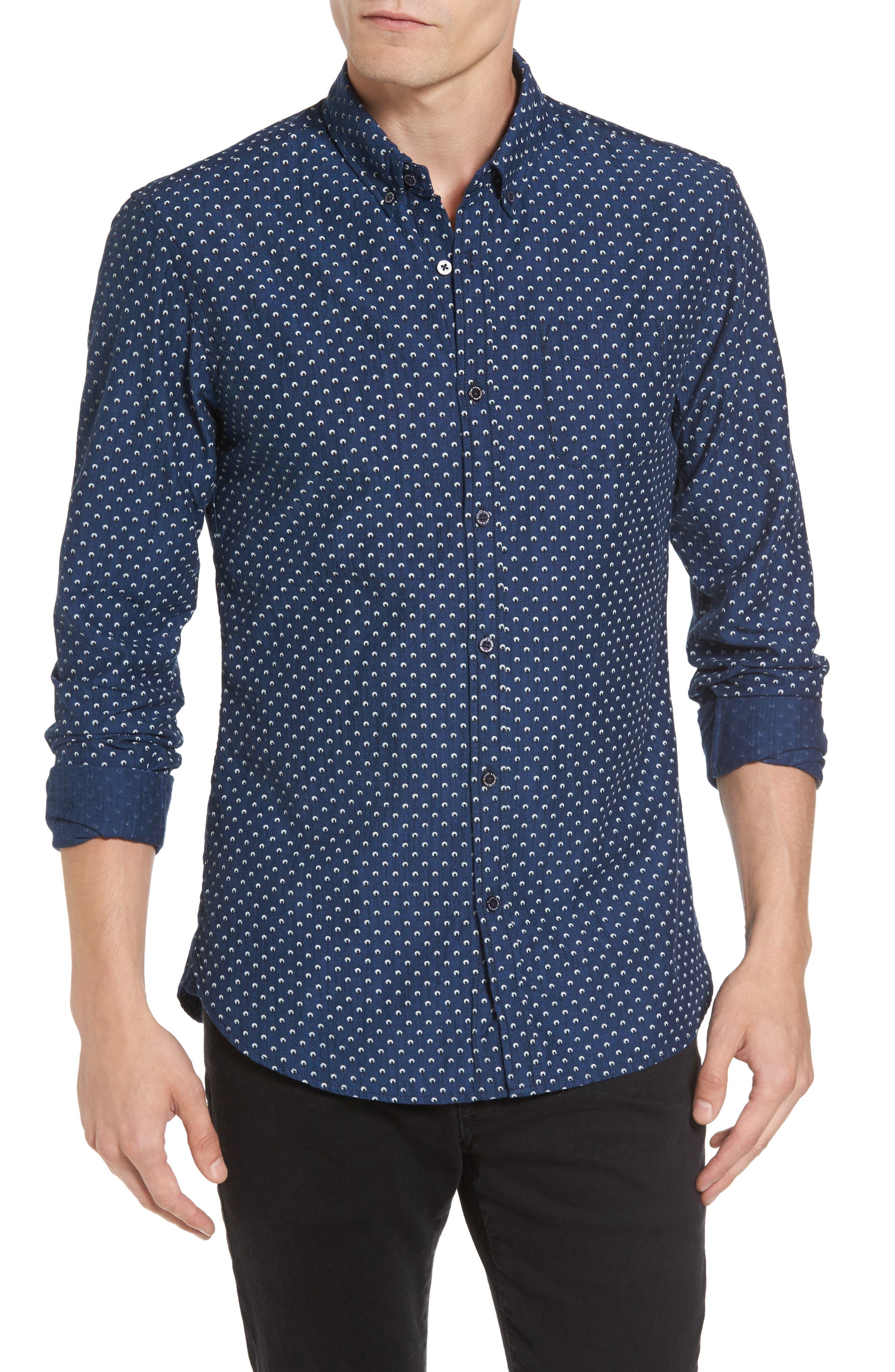 Slim Fit Allover Print Shirt,                         Main,                         color, Combo B