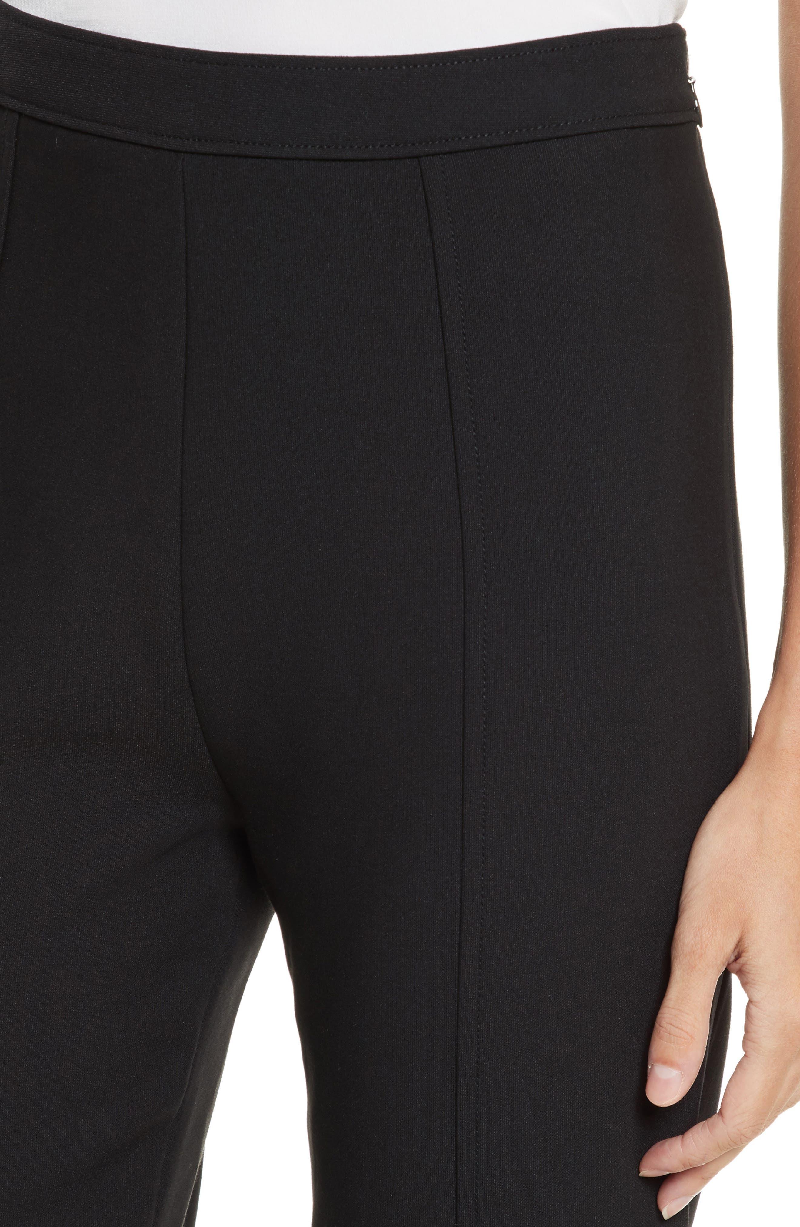 Seneca Flare Leg Crop Pants,                             Alternate thumbnail 4, color,                             Black
