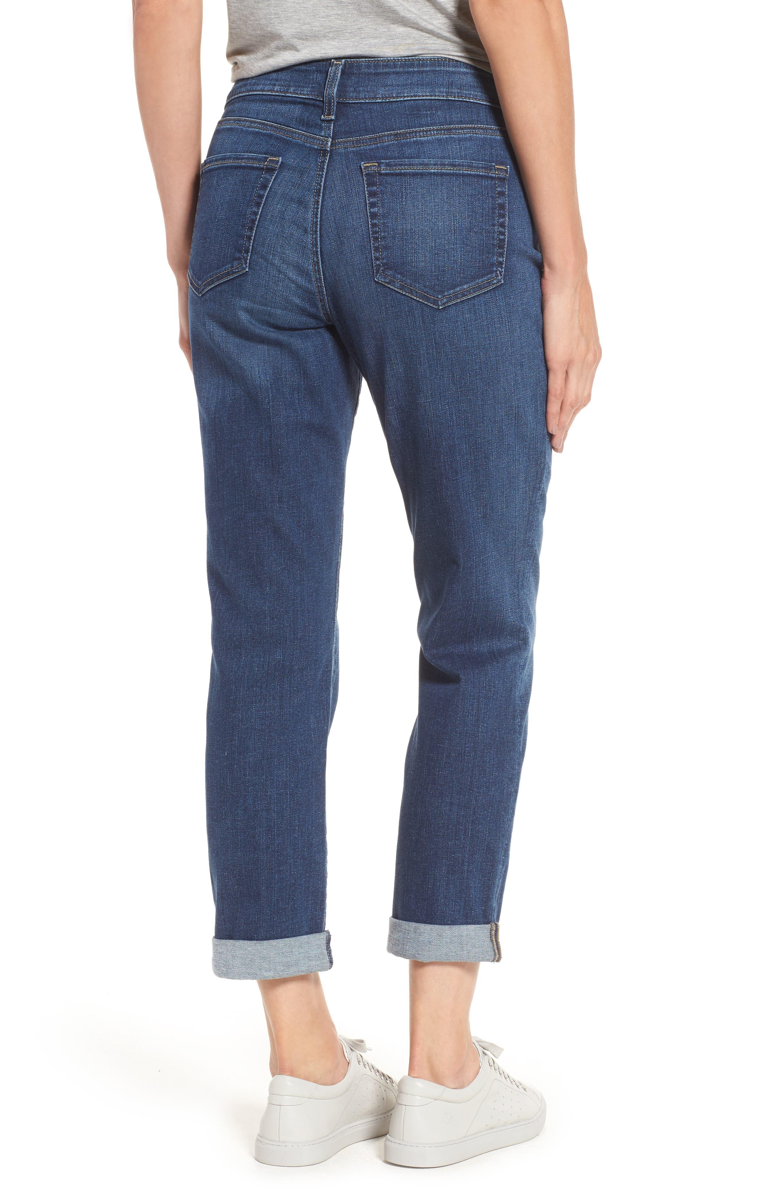 Alternate Image 2  - NYDJ Stretch Boyfriend Jeans (Regular & Petite)