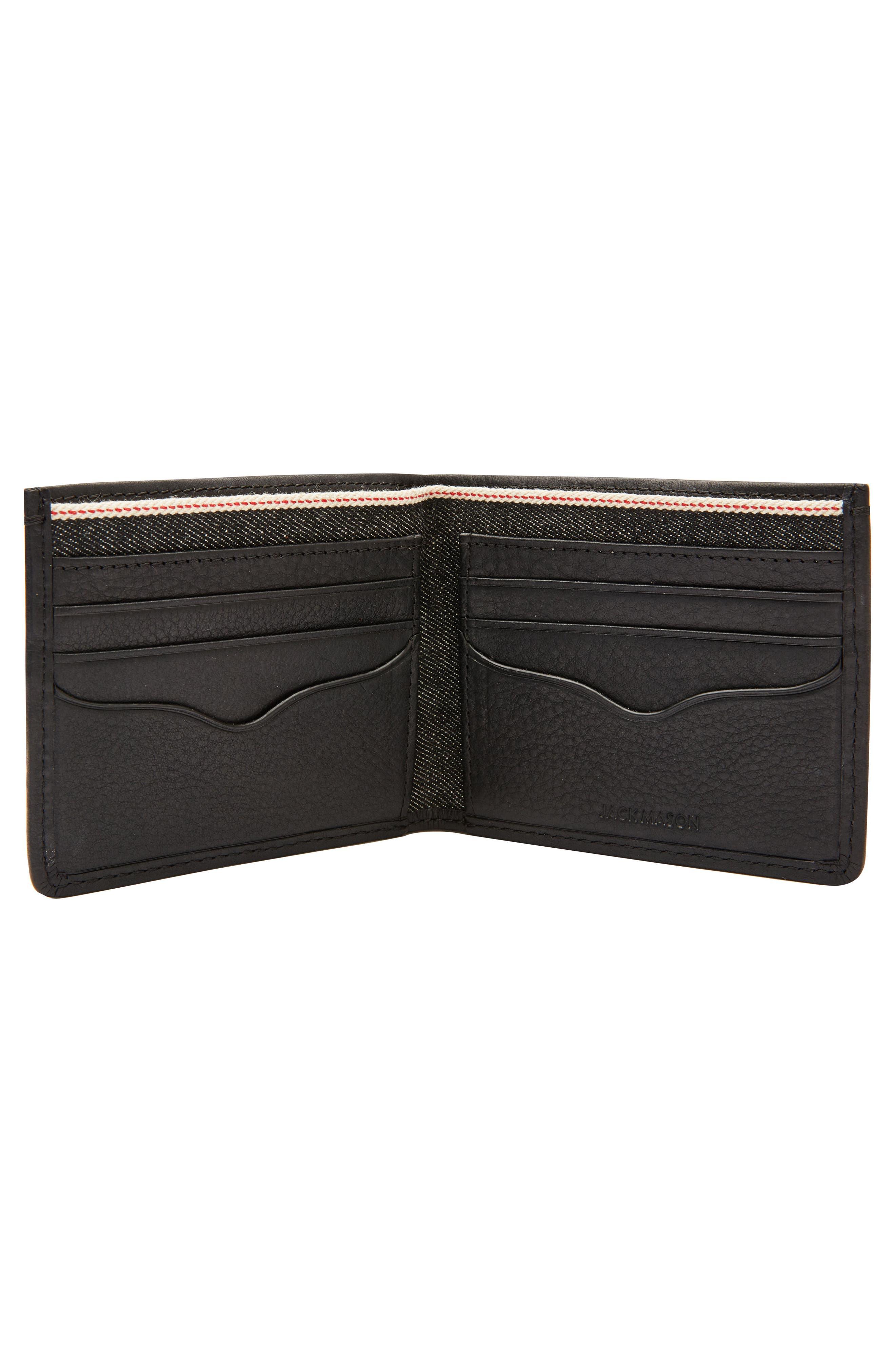 Selvedge Denim Wallet,                             Alternate thumbnail 2, color,                             Black