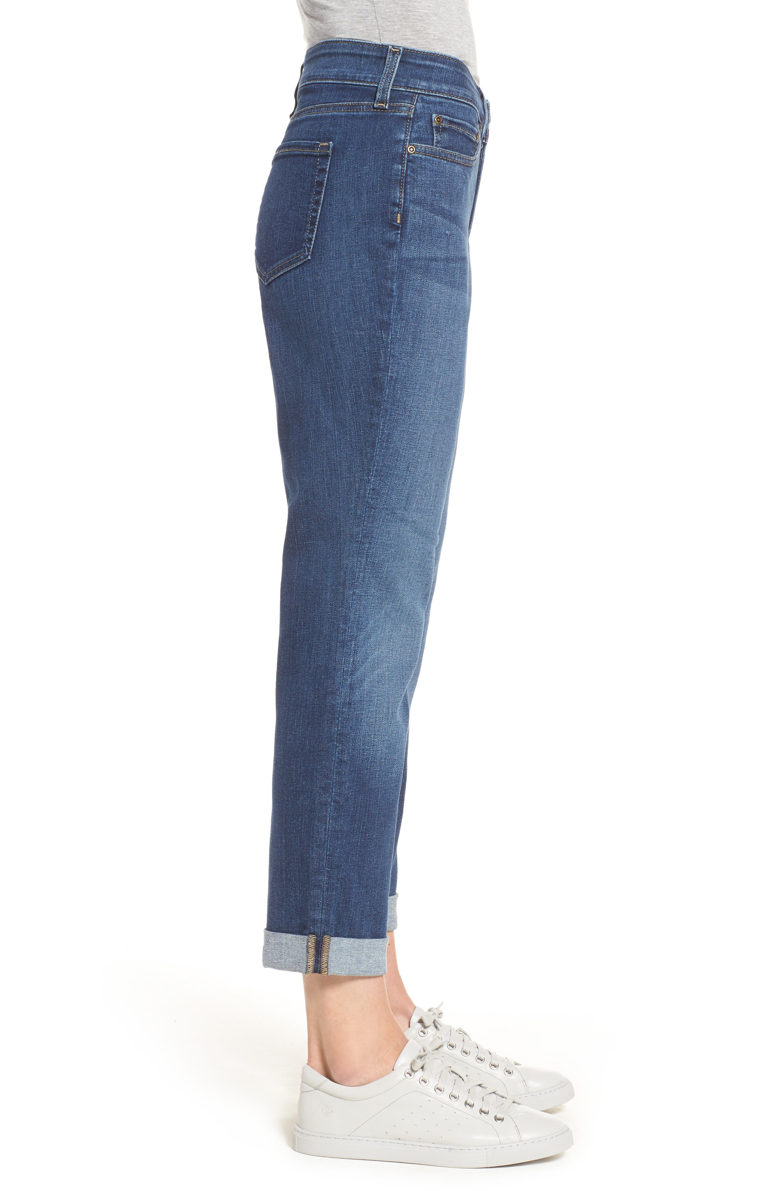 Alternate Image 3  - NYDJ Stretch Boyfriend Jeans (Regular & Petite)