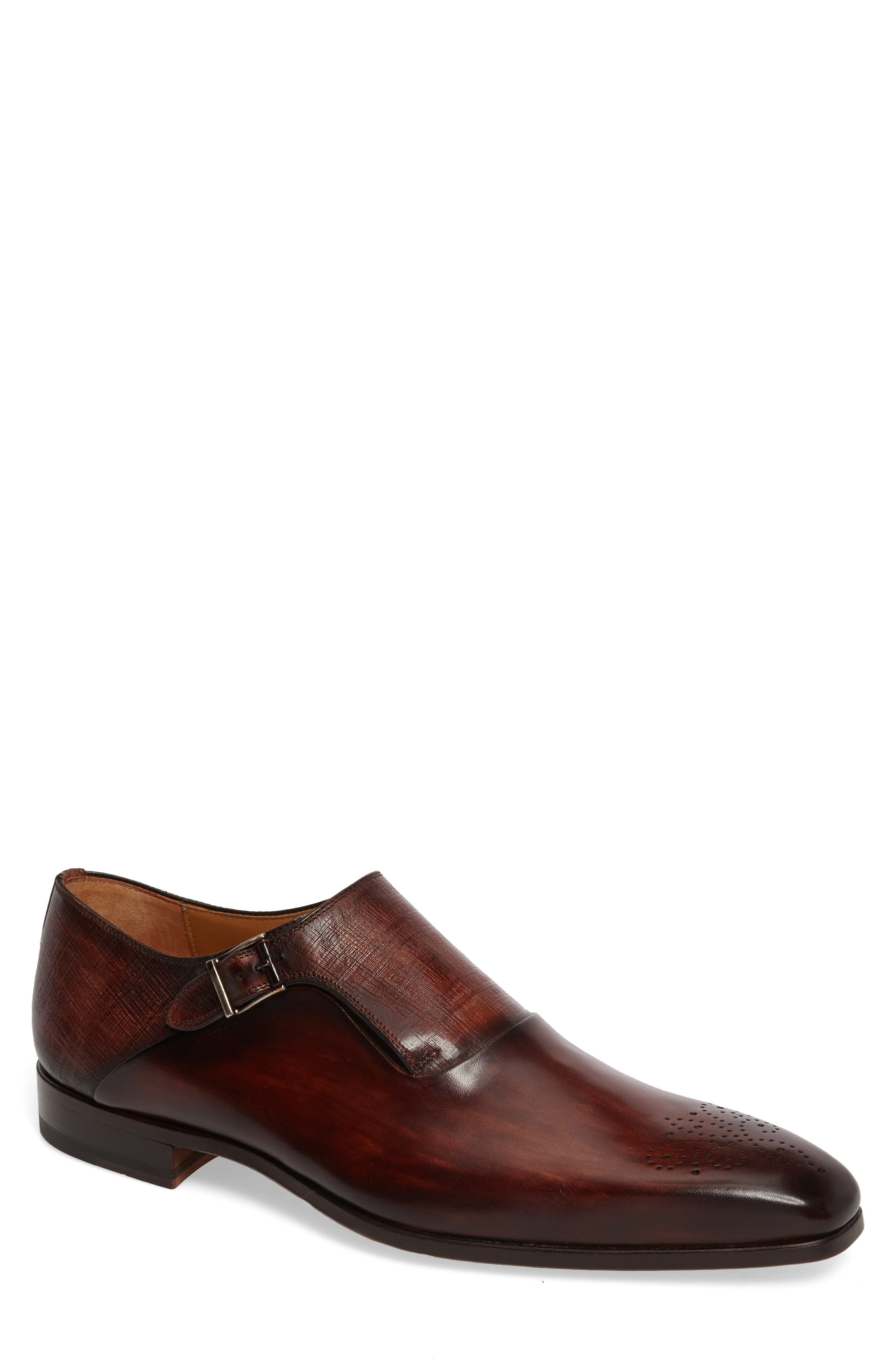 Alternate Image 1 Selected - Magnanni Saburo Monk Strap Shoe (Men)