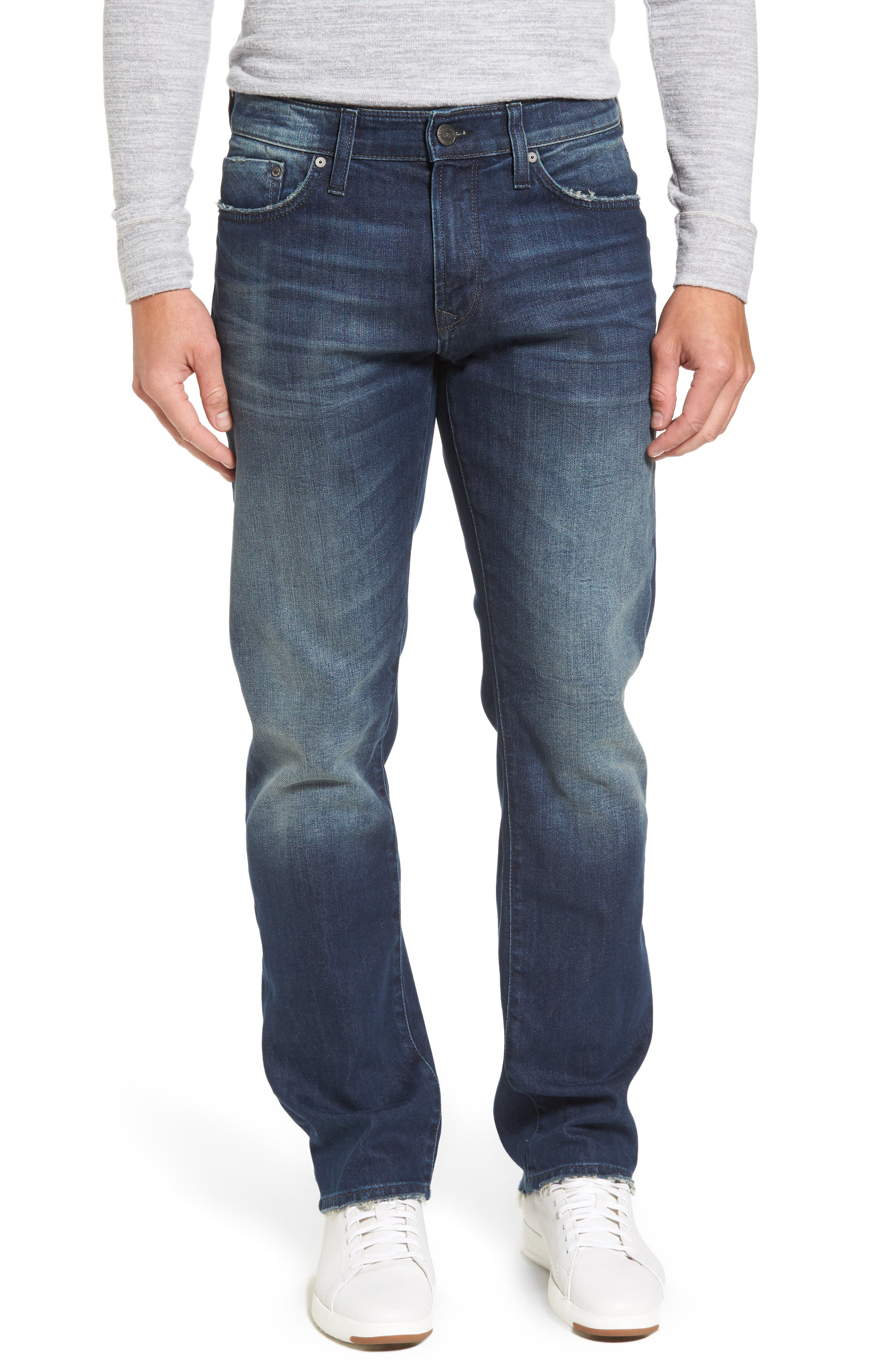 Main Image - Mavi Jeans Zach Straight Leg Jeans (Light Shaded Authentic Vintage)