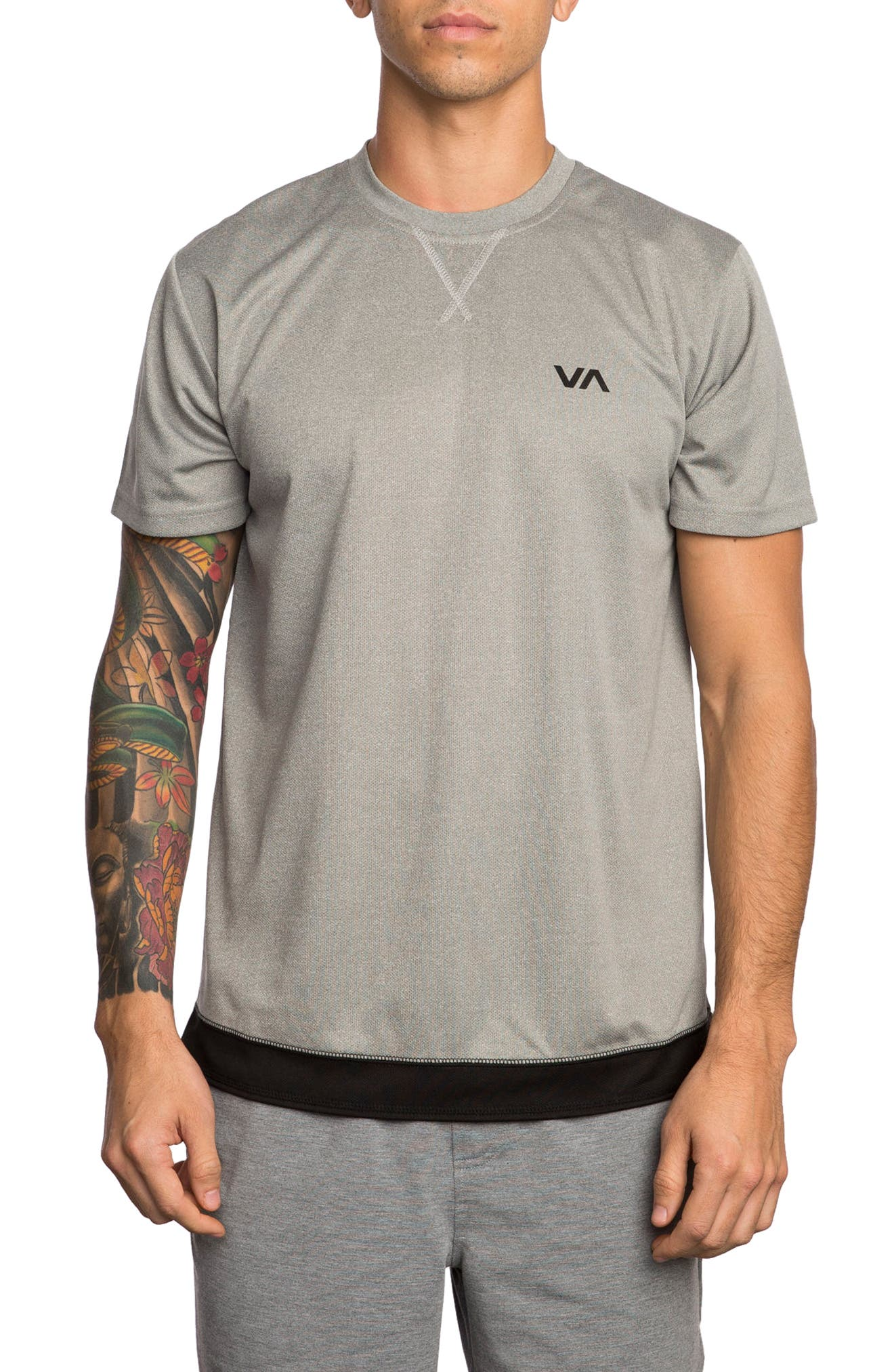 Runner Mesh T-Shirt,                         Main,                         color, Athletic Heather