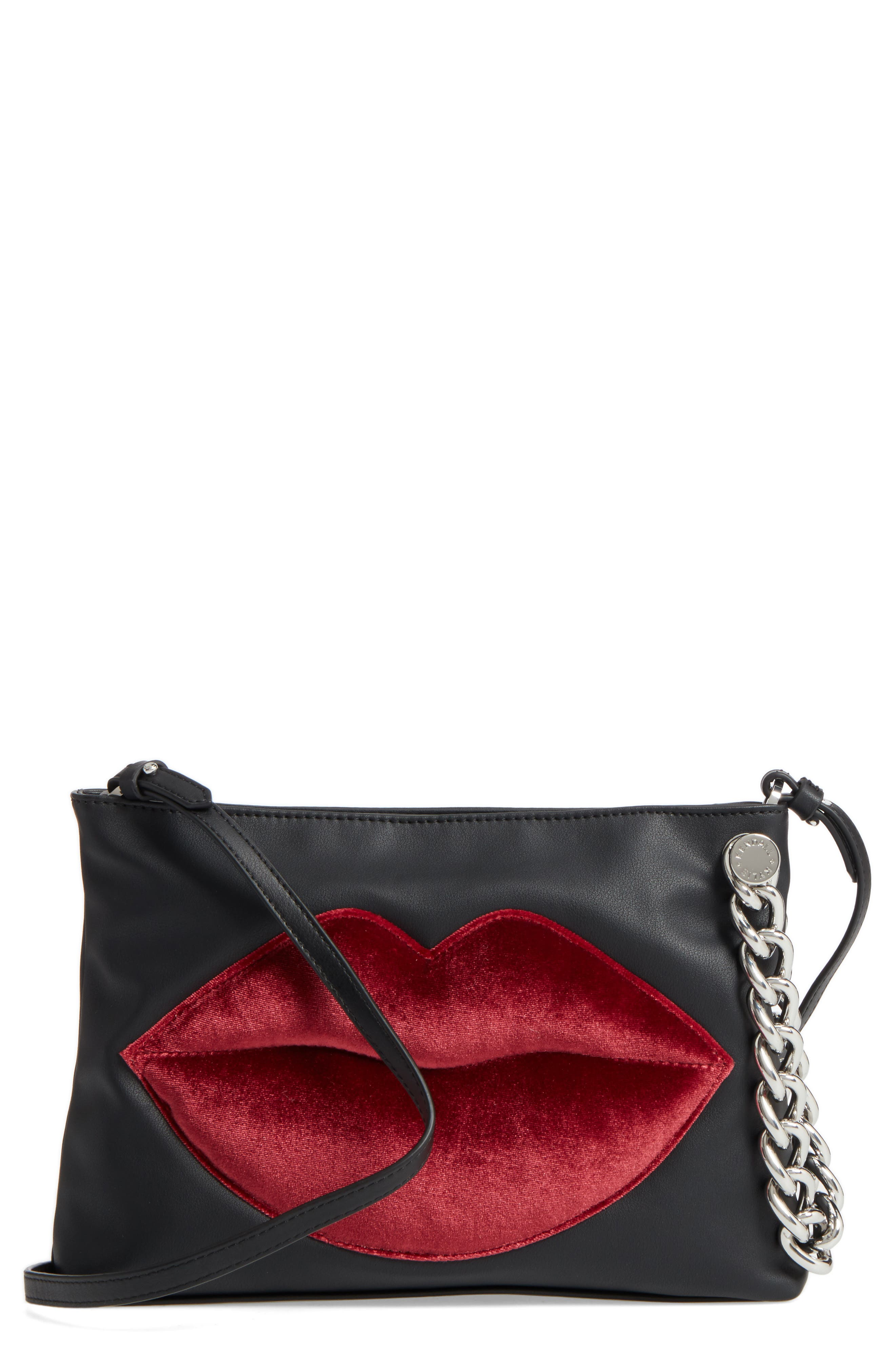 KENDALL + KYLIE Corey Lips Leather Clutch