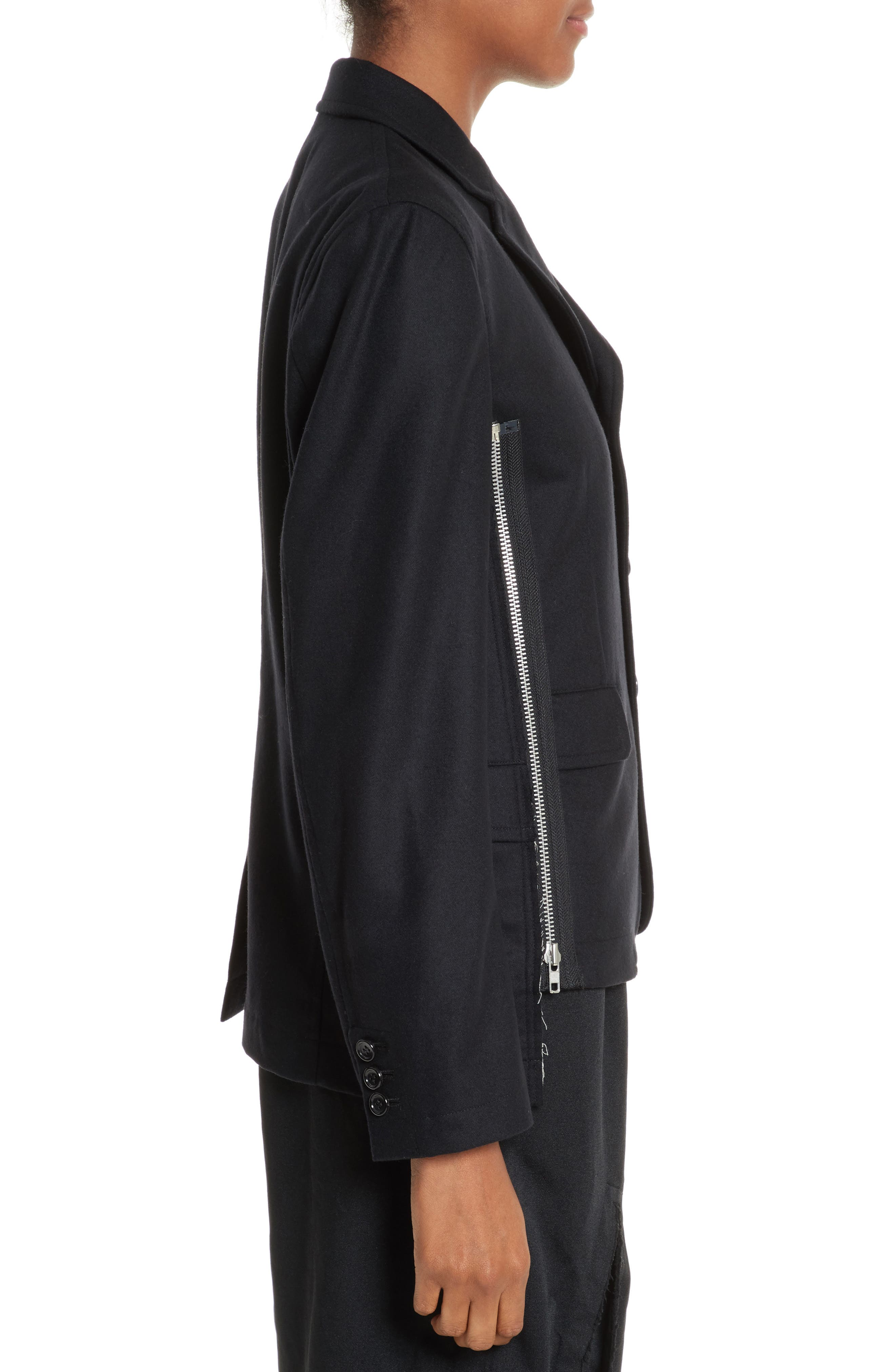 Alternate Image 3  - Comme des Garçons Zip Detail Wool Jacket