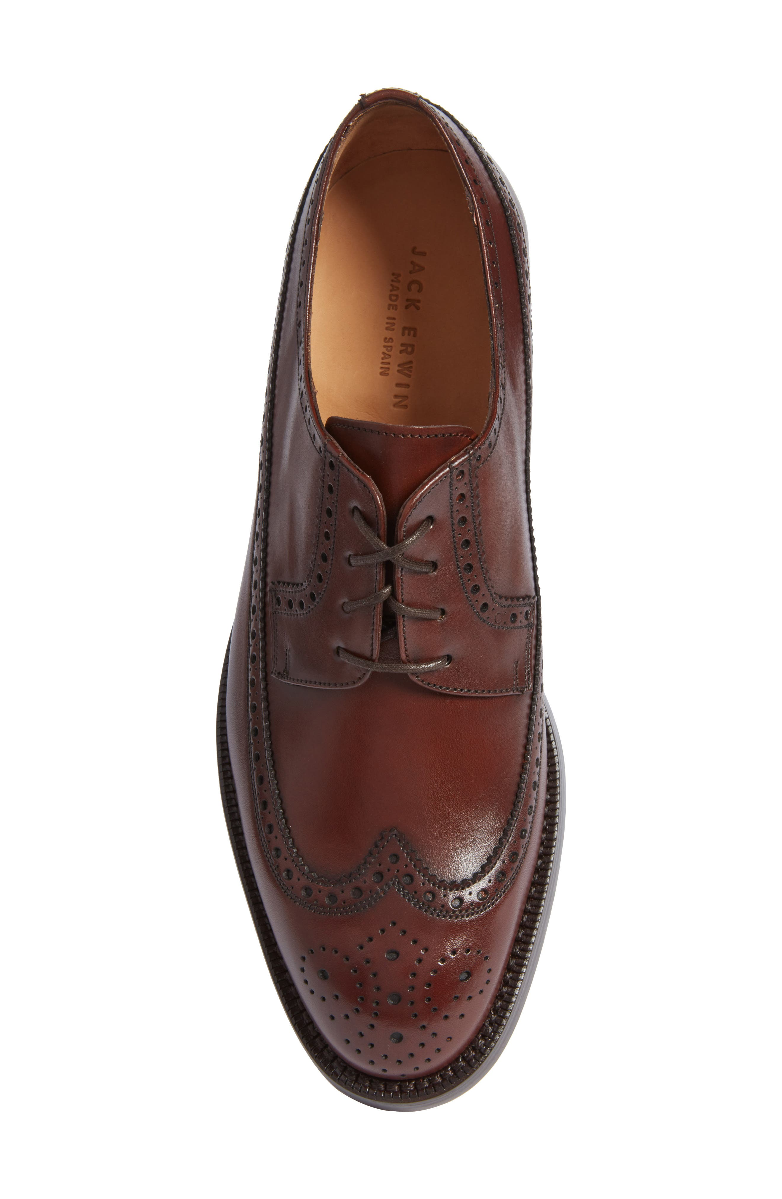 Hubert Longwing Derby,                             Alternate thumbnail 5, color,                             Chocolate Leather