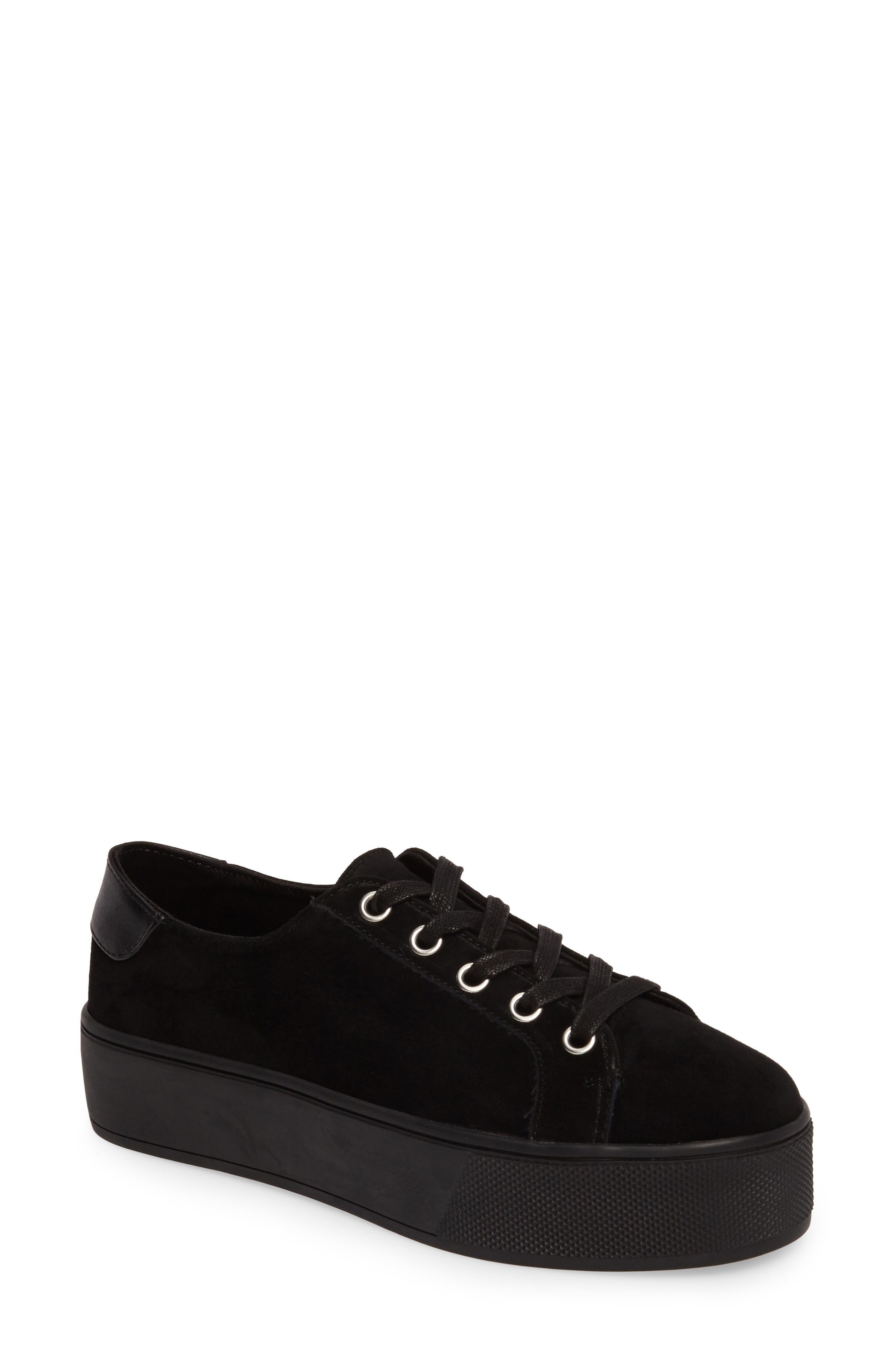 Felecia Platform Sneaker,                         Main,                         color, Black Suede