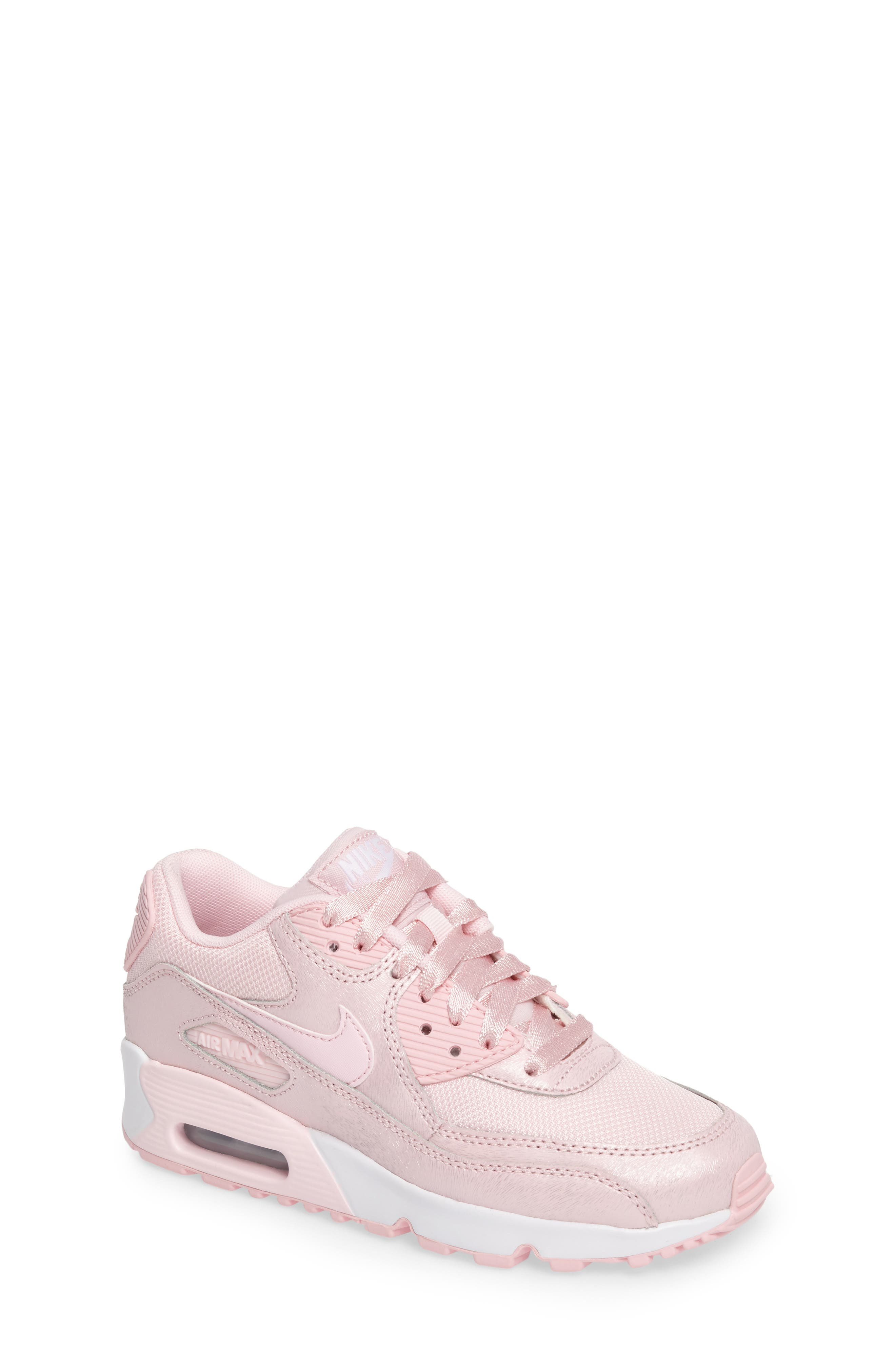 Air Max 90 Mesh Sneaker,                             Main thumbnail 1, color,                             Prism Pink/ White