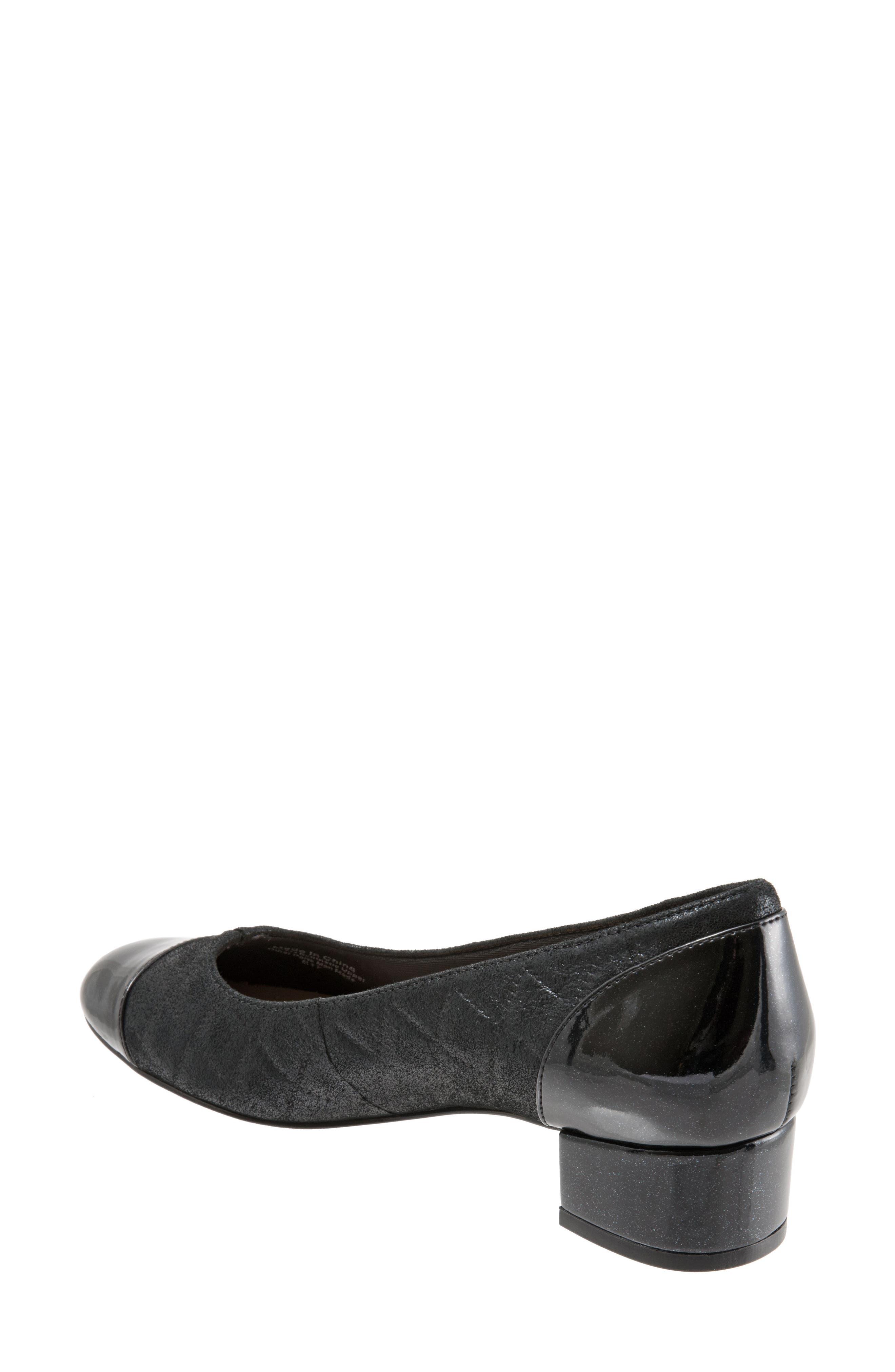 'Signature Danelle' Pump,                             Alternate thumbnail 2, color,                             Black Leather