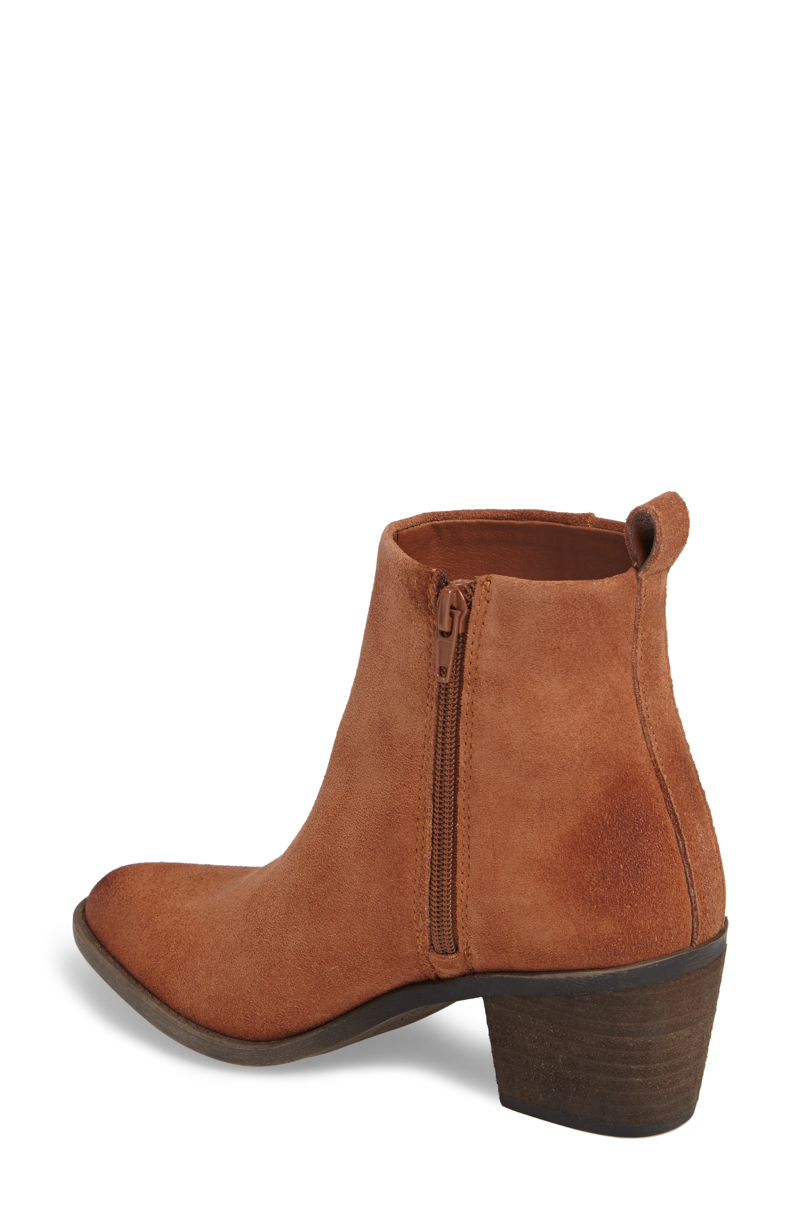 Natania Bootie,                             Alternate thumbnail 2, color,                             Toffee Suede