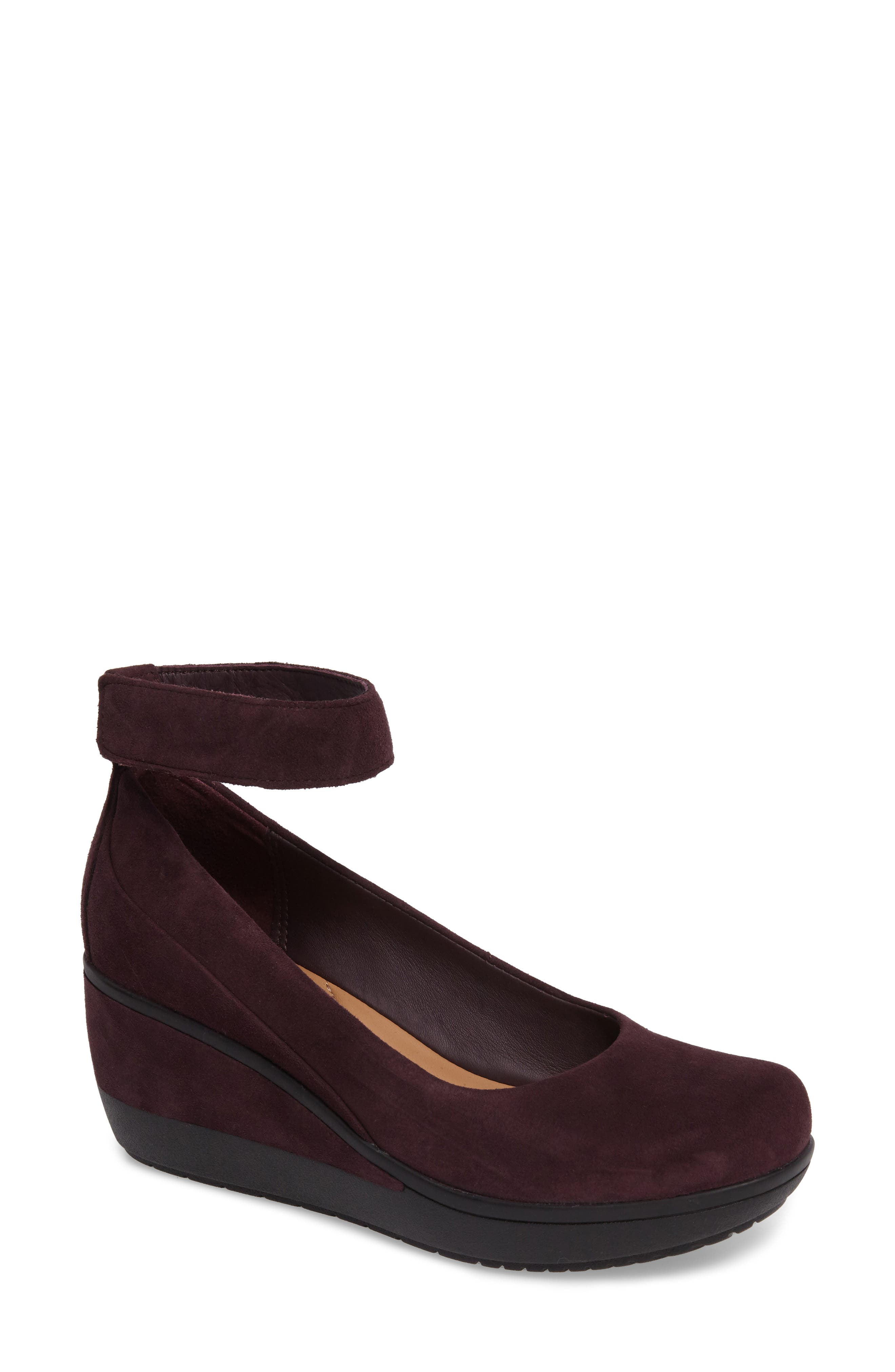 Alternate Image 1 Selected - Clarks® Wynnmere Fox Ankle Strap Pump (Women)