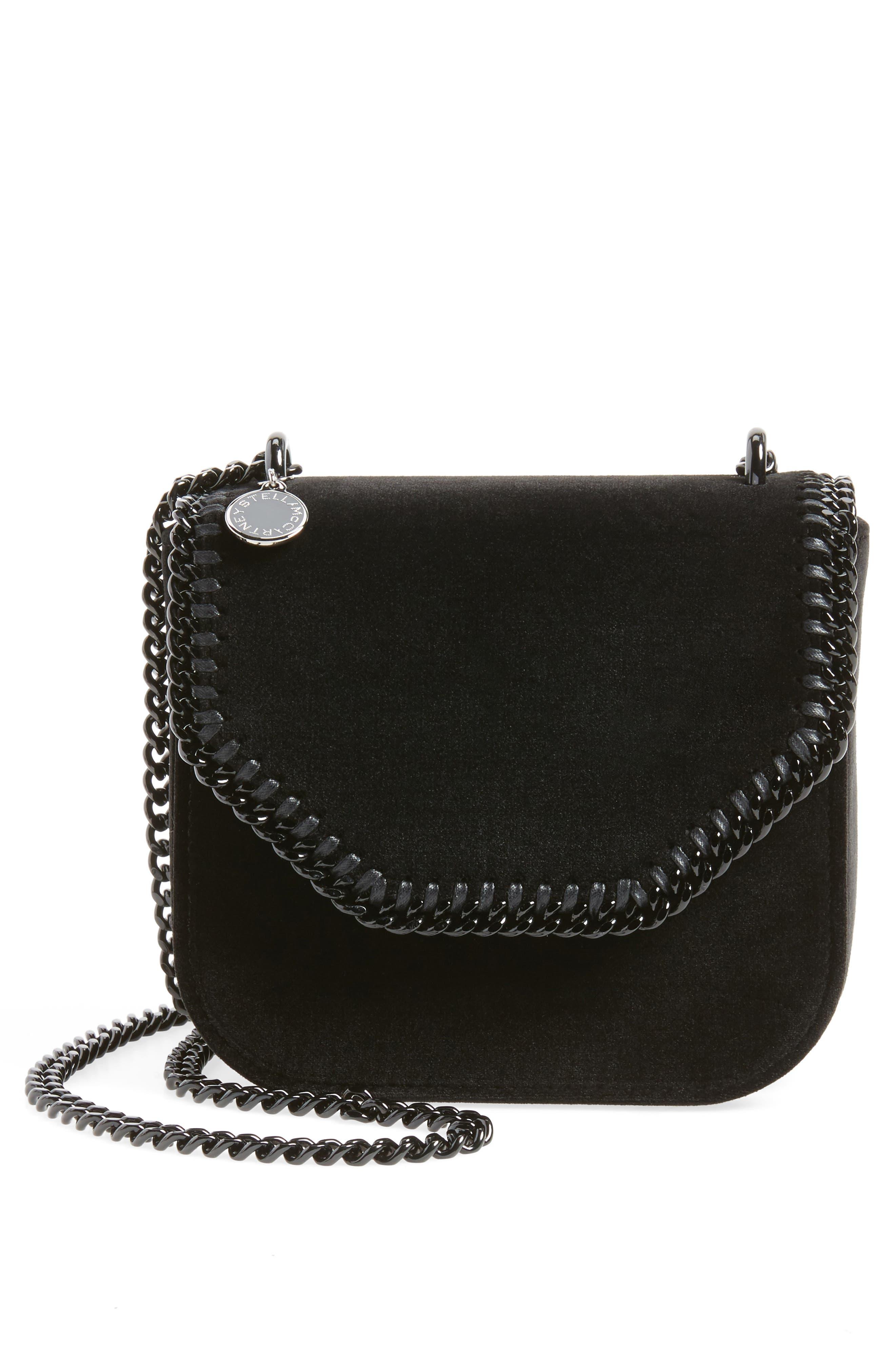 Stella McCartney Mini Falabella Box Velvet Shoulder Bag
