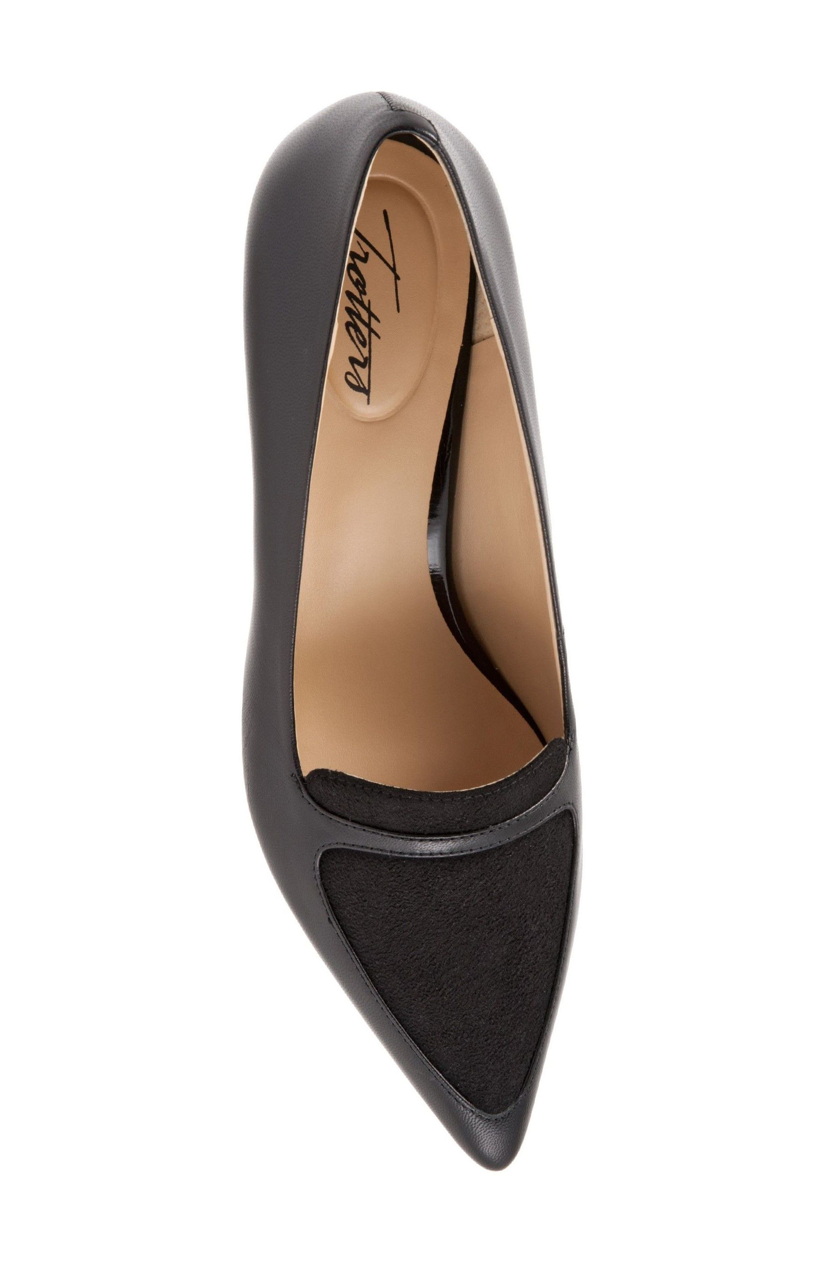'Piper' Pointy Toe Pump,                             Alternate thumbnail 5, color,                             Black
