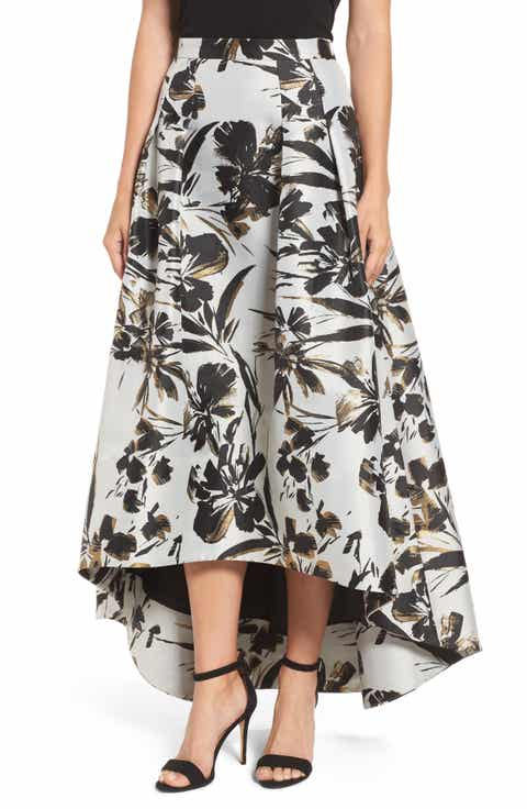 Eliza J Metallic Floral High/Low Skirt Reviews