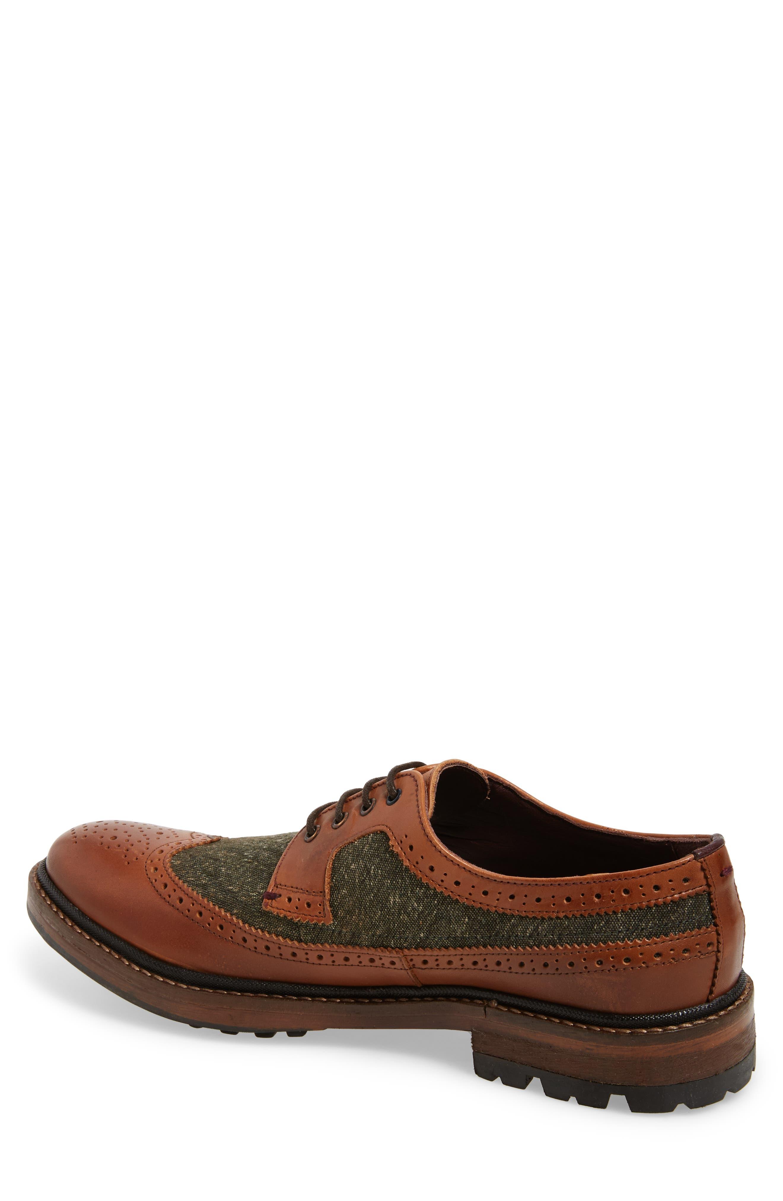 Casbo Spectator Shoe,                             Alternate thumbnail 2, color,                             Tan Multi Leather