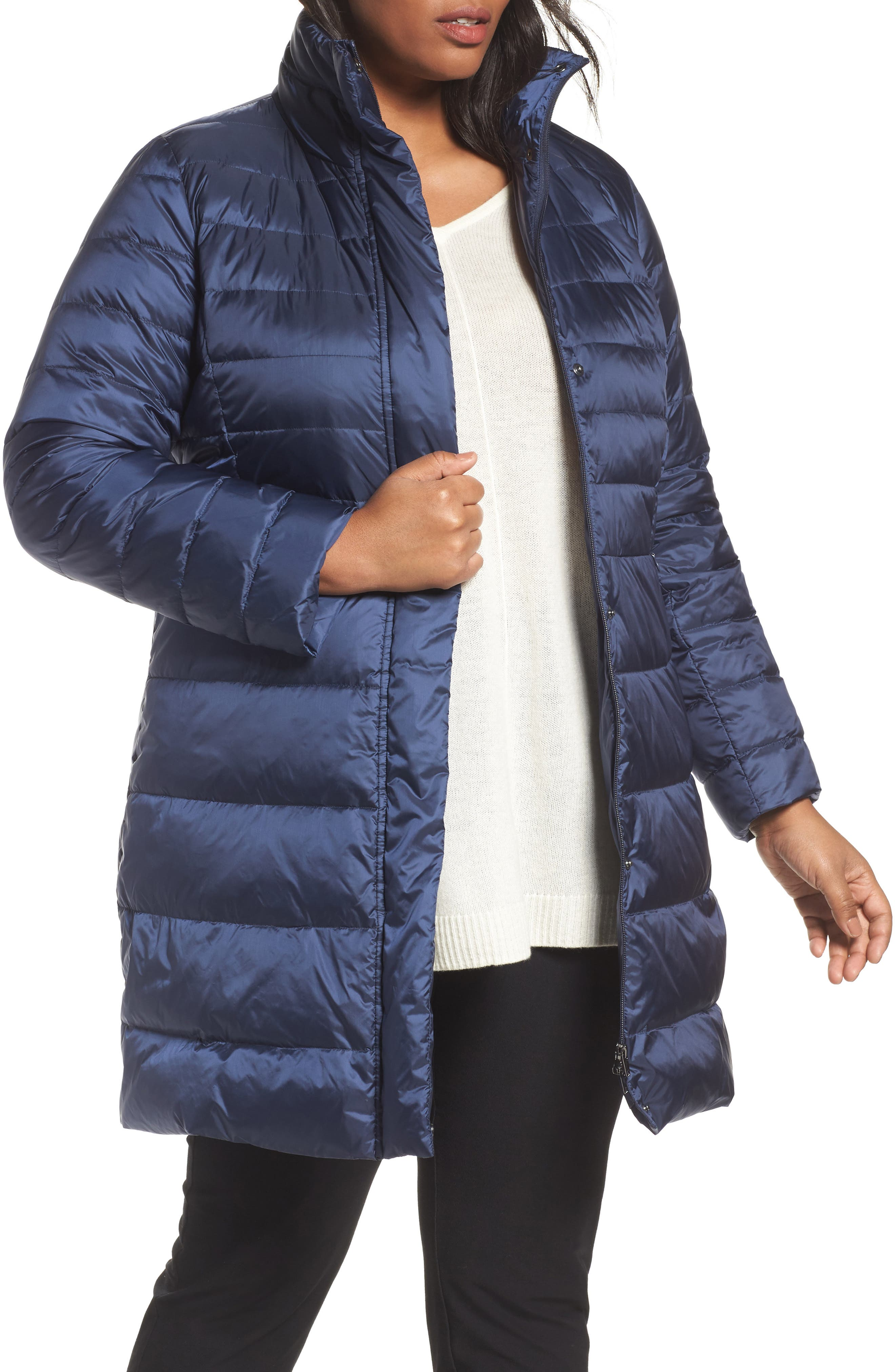 v persona by marina rinaldi panda quilted puffer jacket. Black Bedroom Furniture Sets. Home Design Ideas