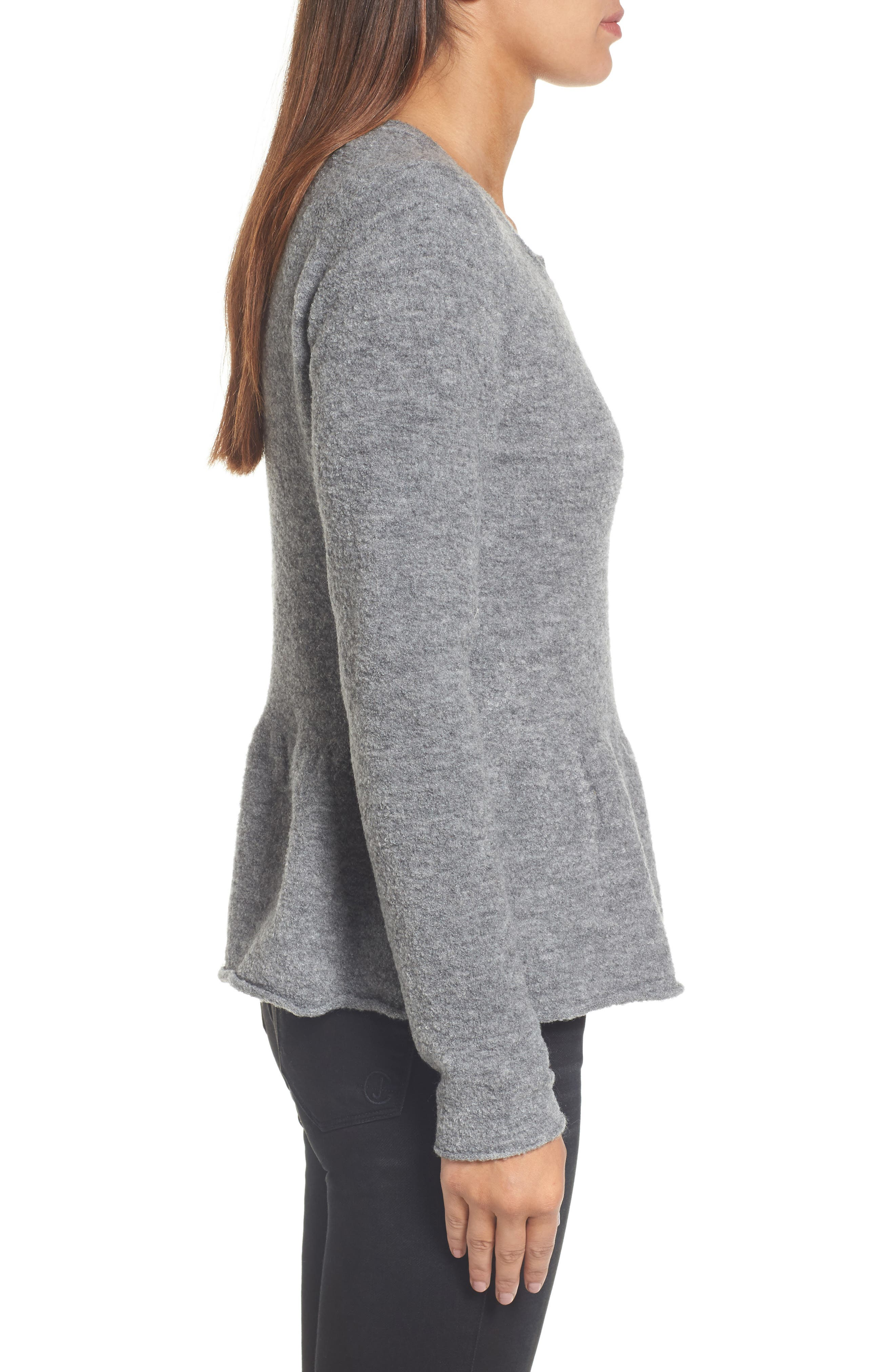 Alternate Image 3  - Caslon® Peplum Bouclé Jacket (Regular & Petite)