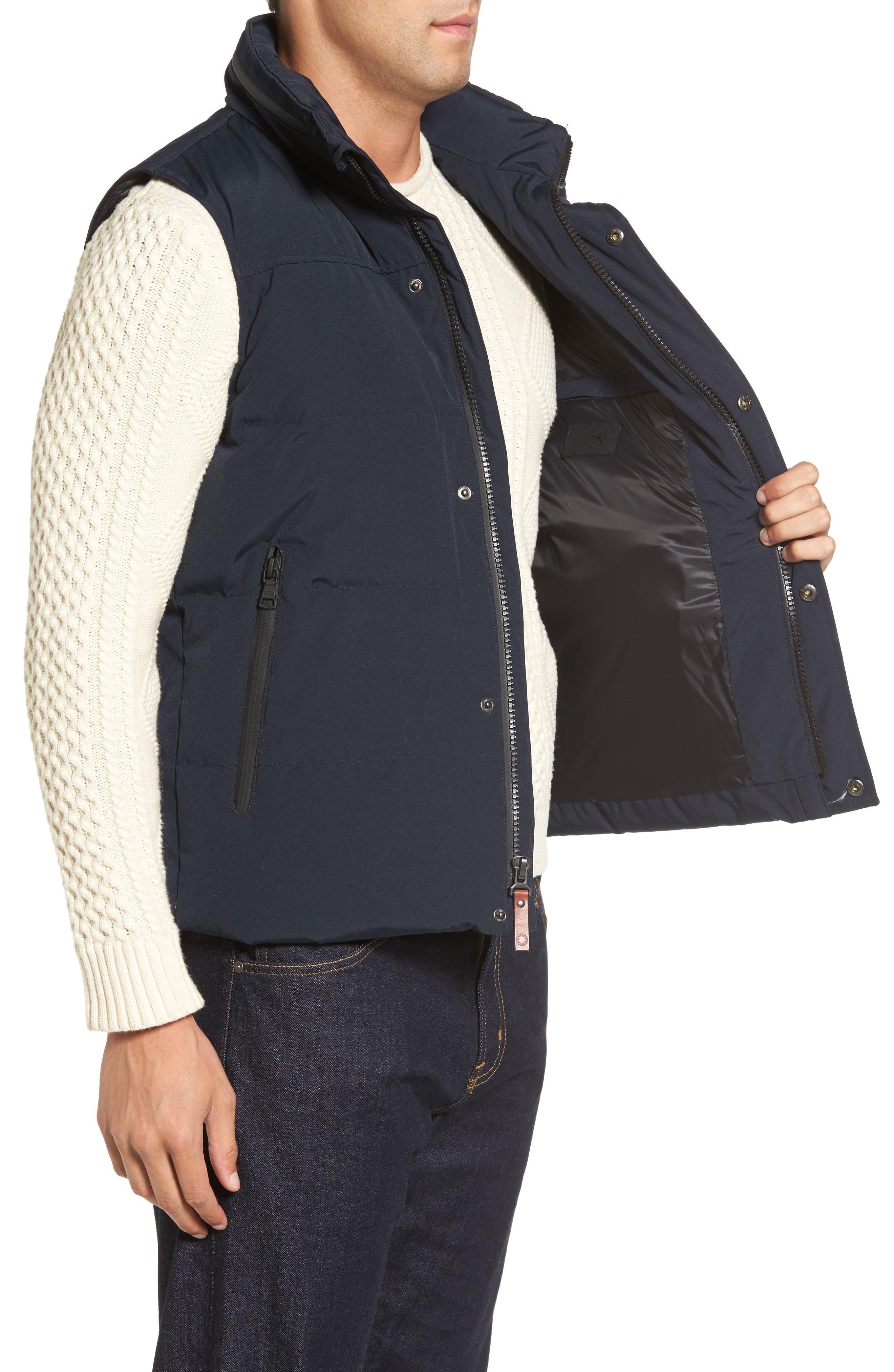 Water-Resistant Down Vest,                             Alternate thumbnail 3, color,                             Navy