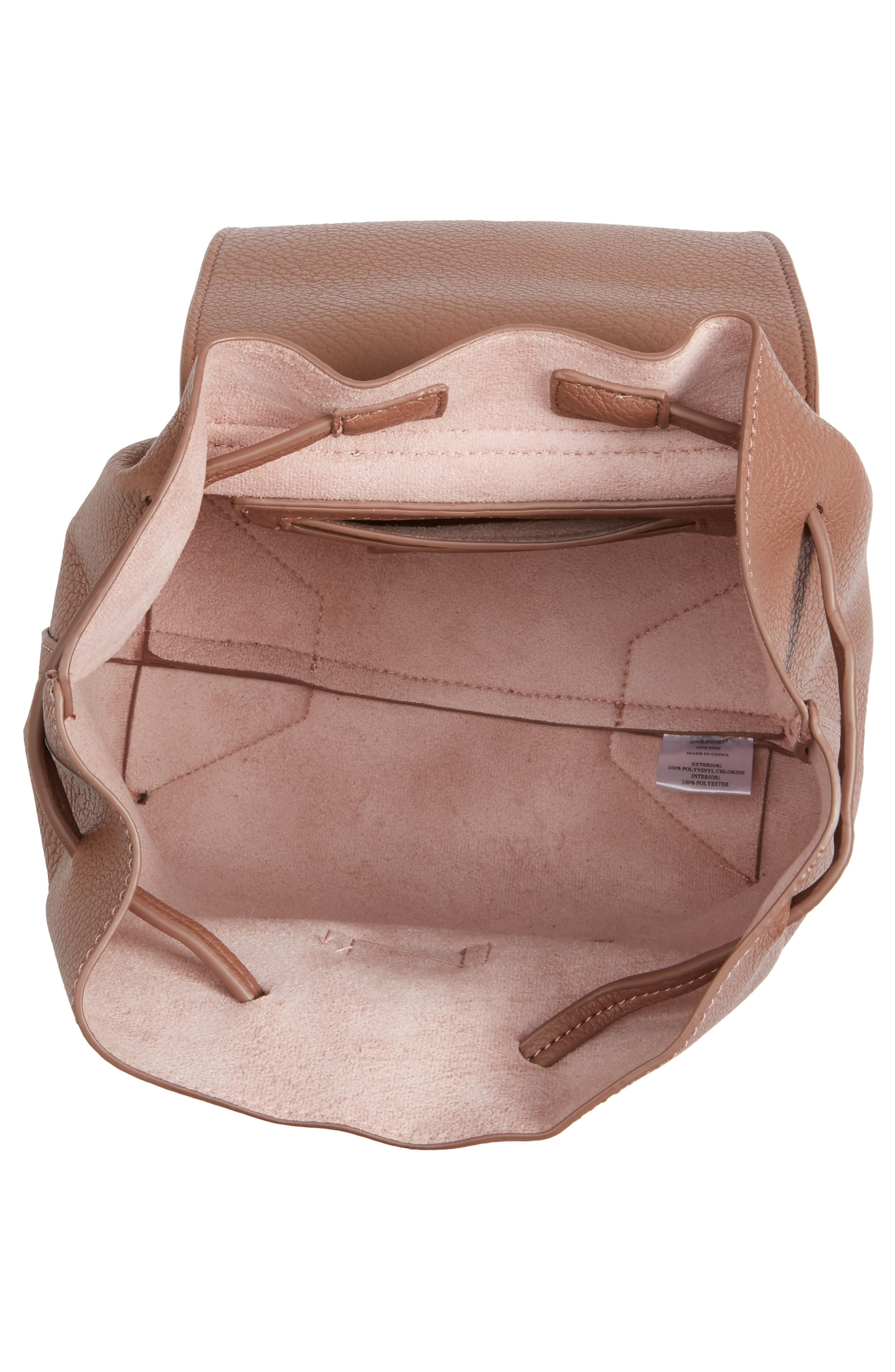 Alternate Image 4  - Sole Society Jaylee Faux Leather Mini Backpack