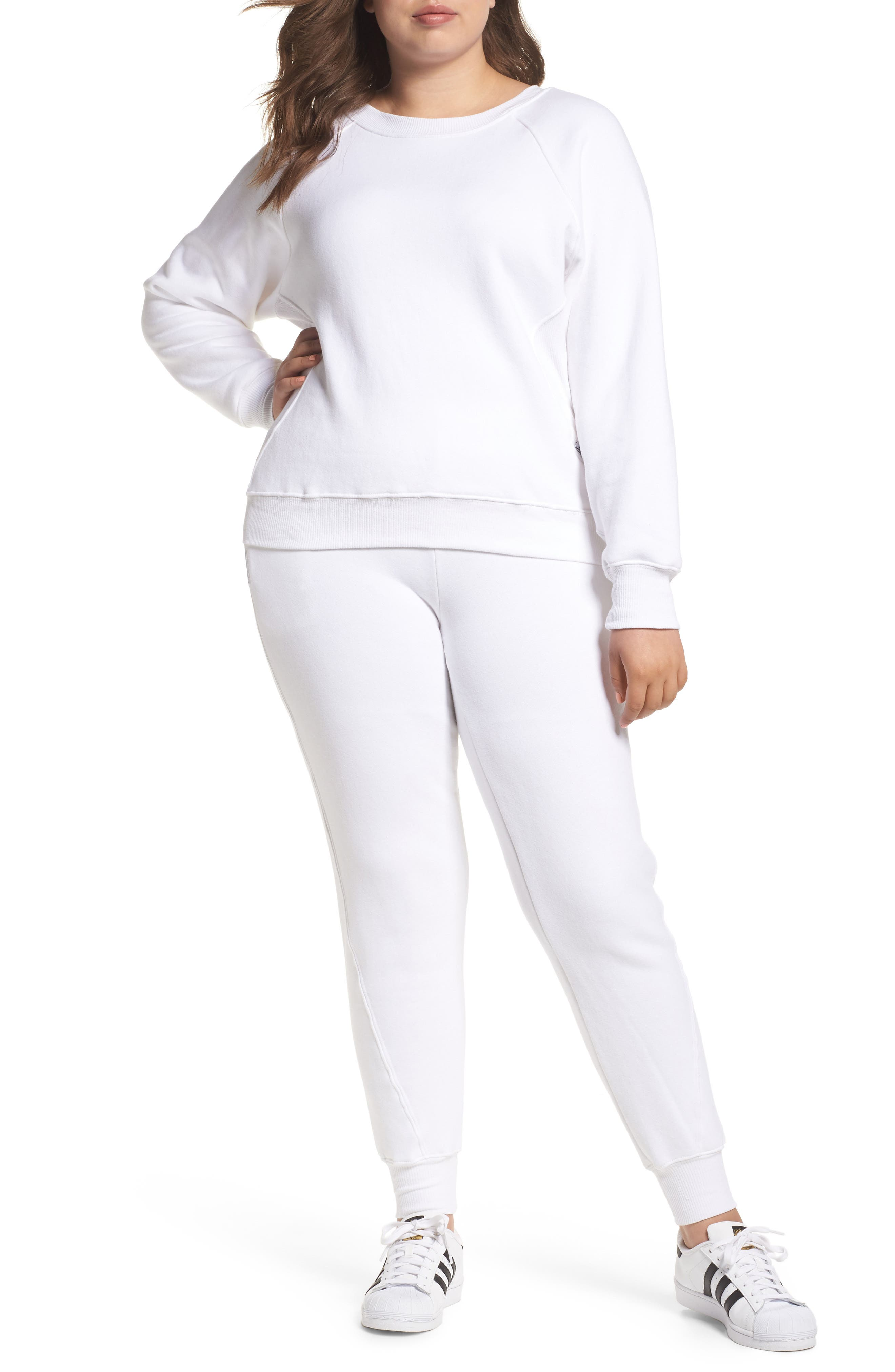 Good Sweats The Twisted Seam Pants,                             Alternate thumbnail 4, color,                             Off White