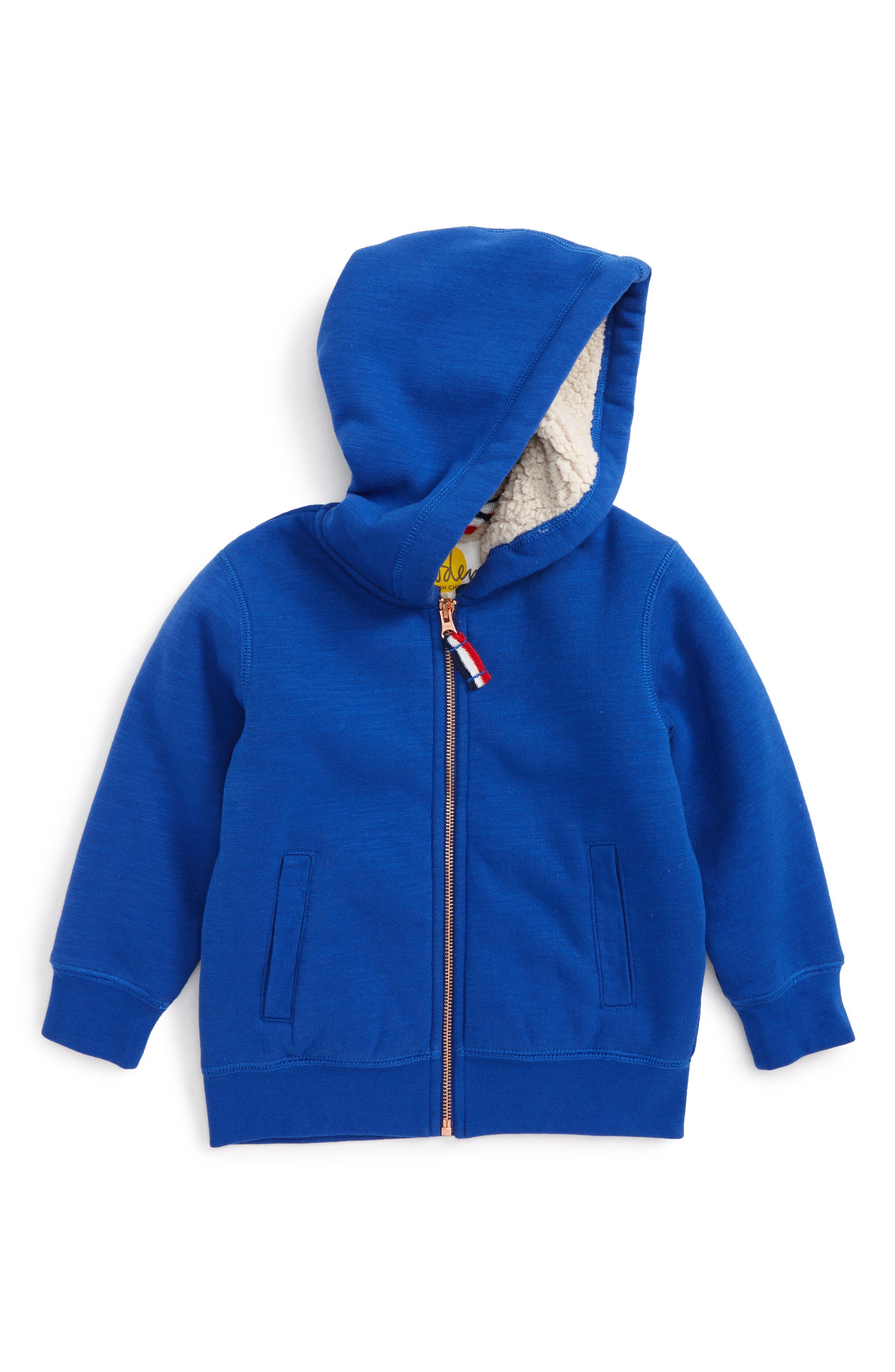 Zip-Up Hoodie,                         Main,                         color, Kelin Blue